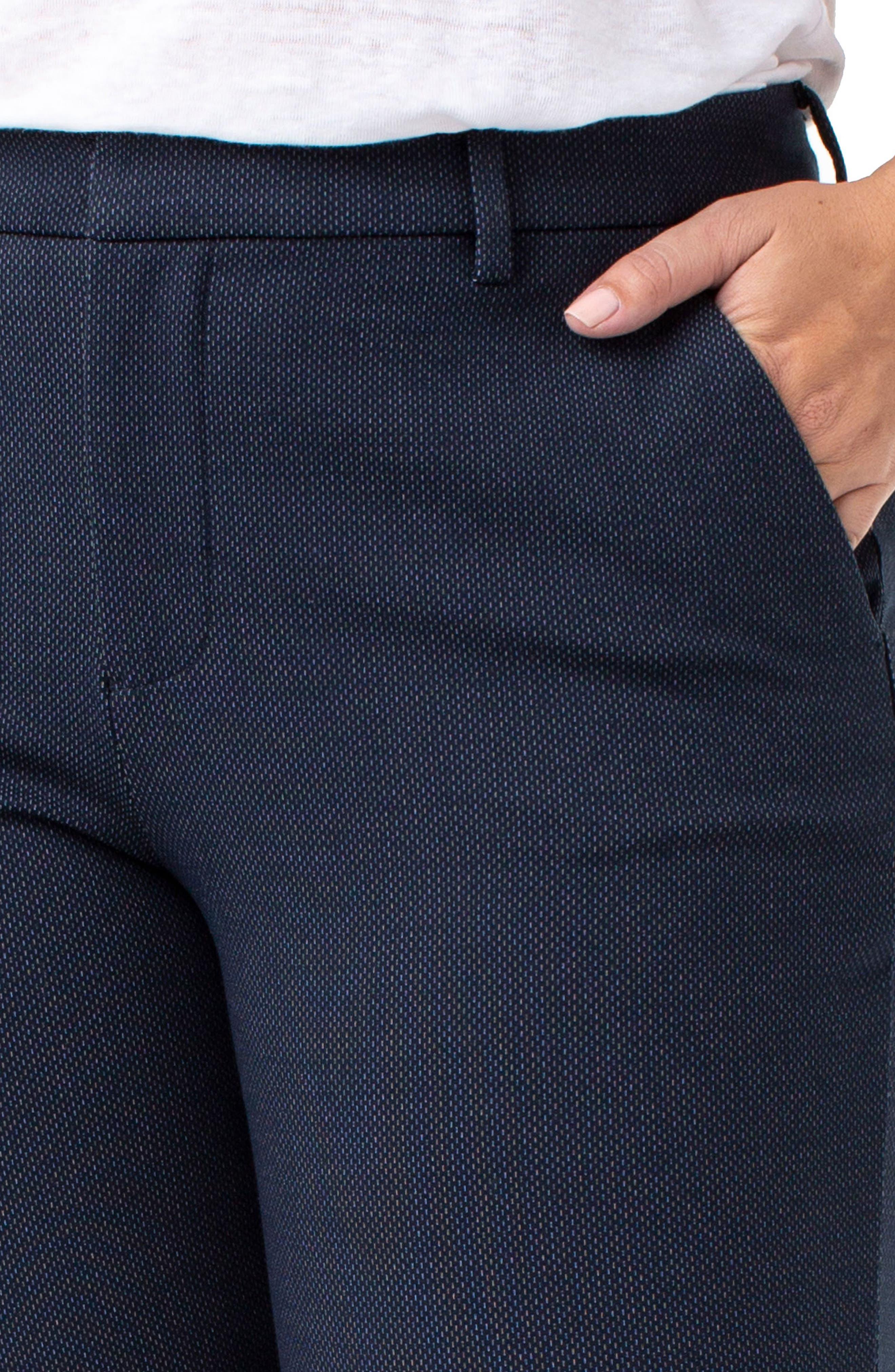 Kelsey Stretch Knit Pants,                             Alternate thumbnail 4, color,                             NAVY BIRDSEYE