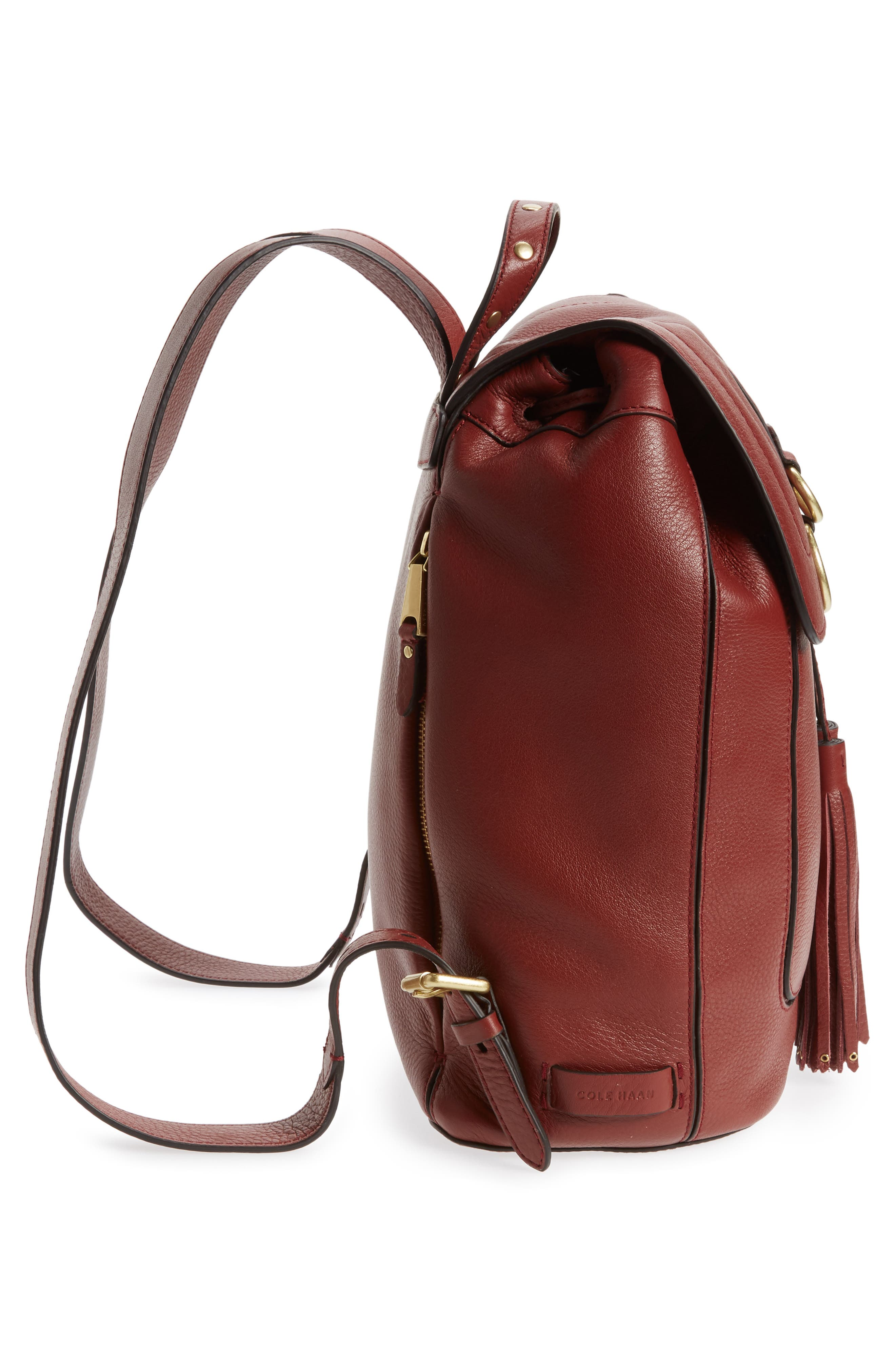 Cassidy RFID Pebbled Leather Backpack,                             Alternate thumbnail 18, color,