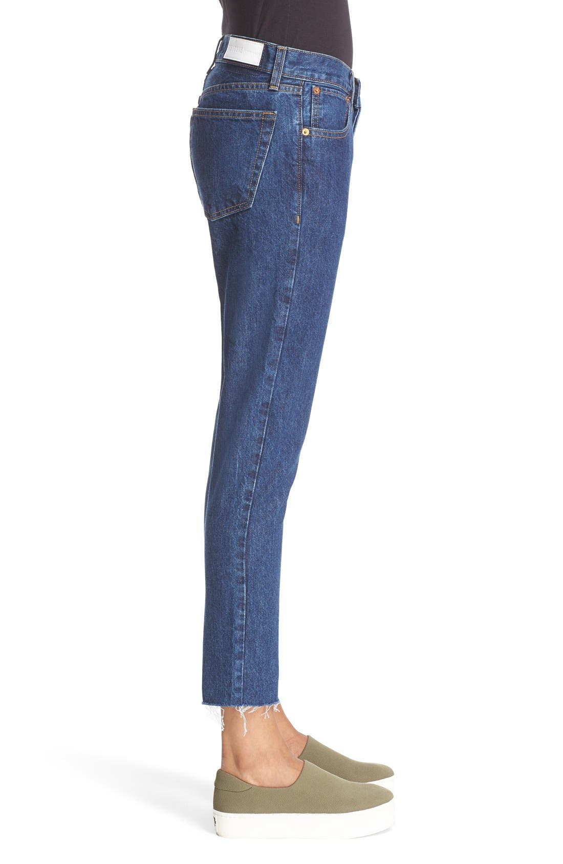 Originals High Waist Crop Jeans,                             Alternate thumbnail 3, color,                             400