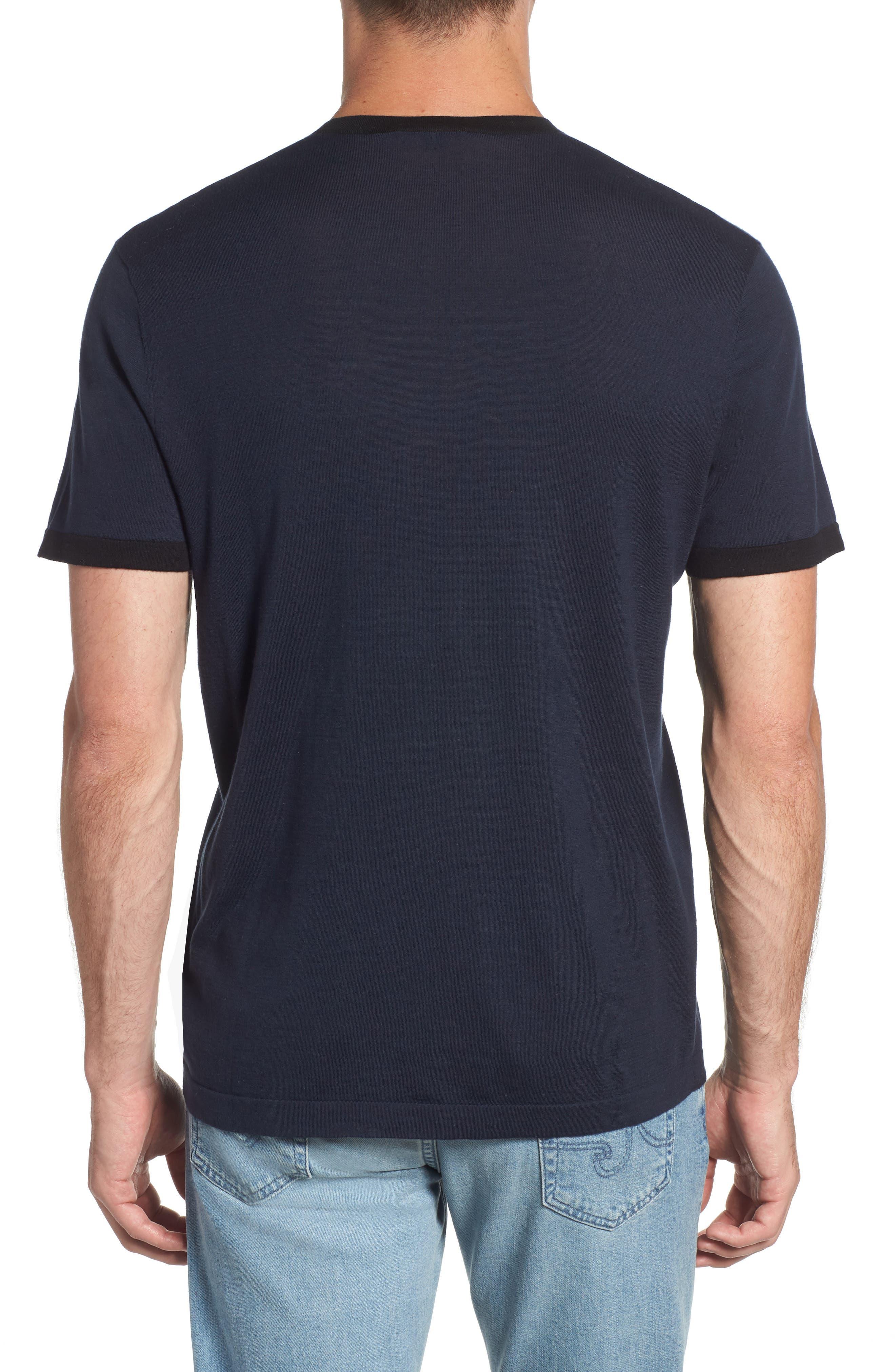 Regular Fit Ringer T-Shirt,                             Alternate thumbnail 2, color,                             FRENCH NAVY/ BLACK