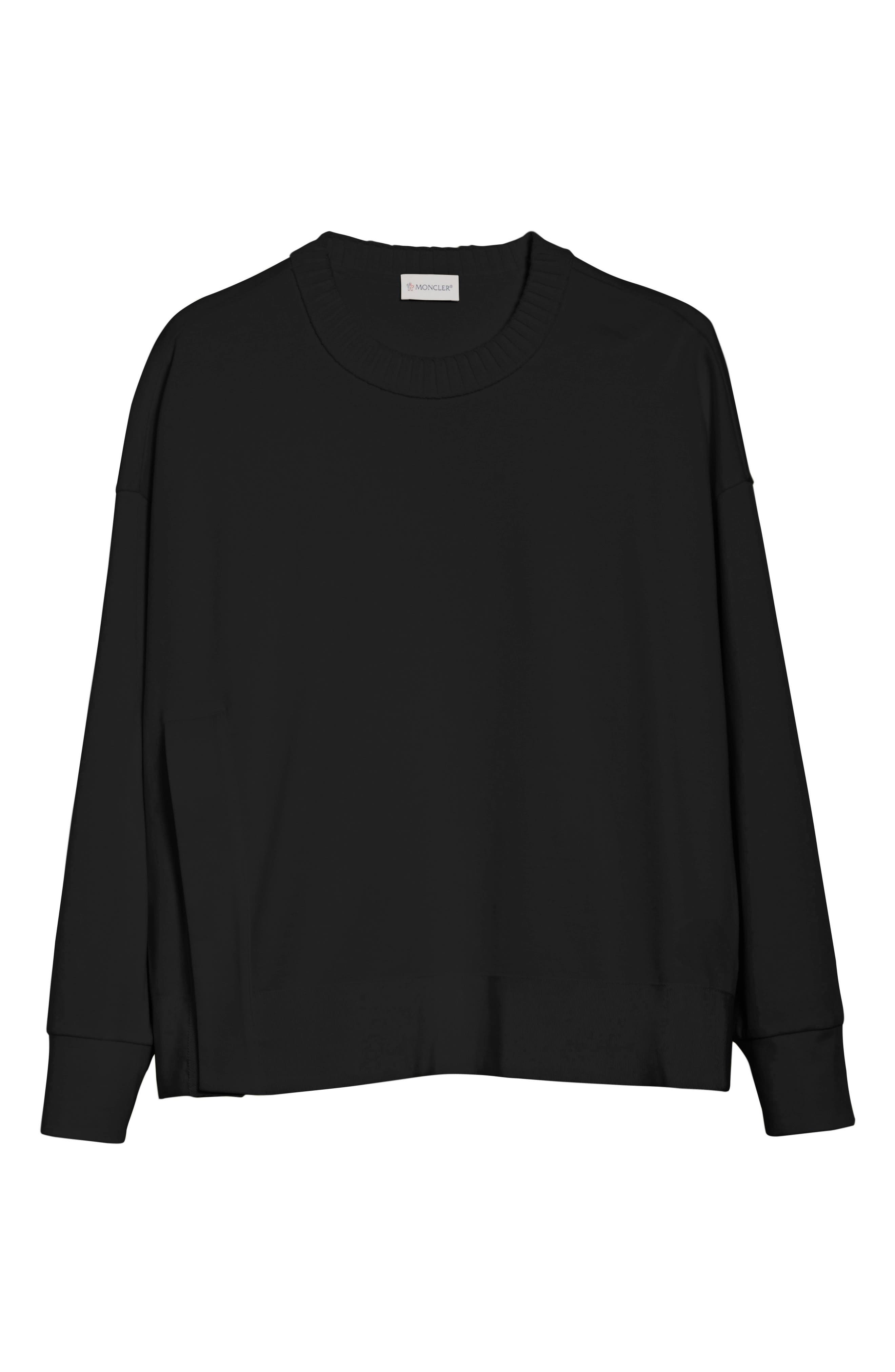 Cotton Sweatshirt,                             Alternate thumbnail 6, color,                             001