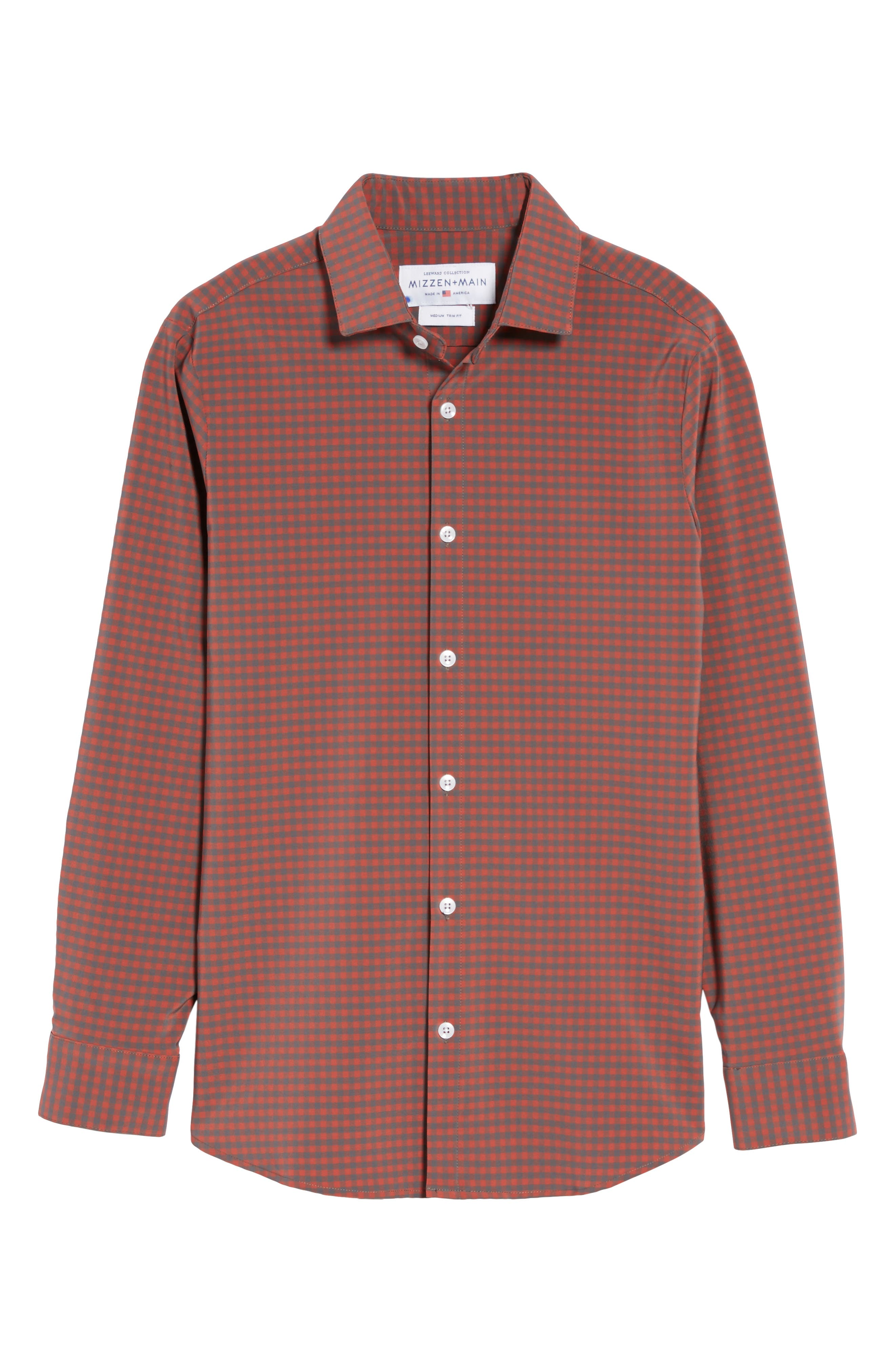 Douglas Grey & Chili Check Sport Shirt,                             Alternate thumbnail 6, color,                             RED