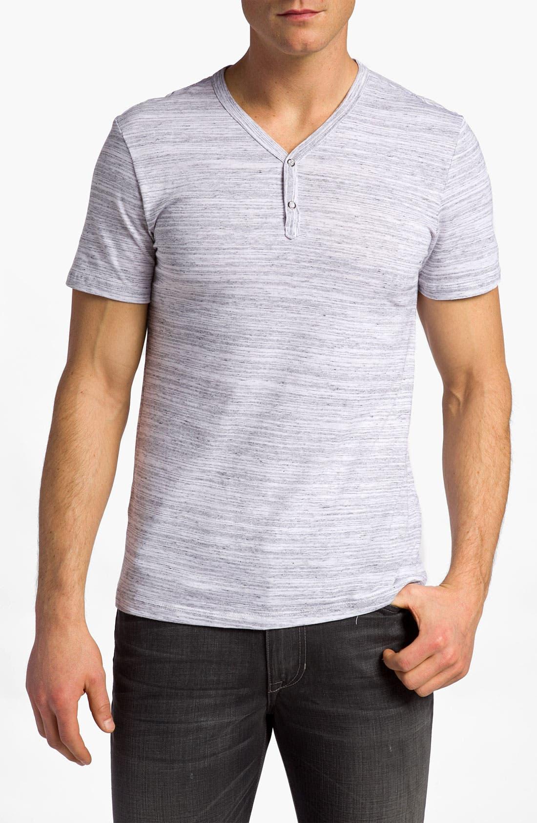 Short Sleeve Y-Neck Henley, Main, color, 100