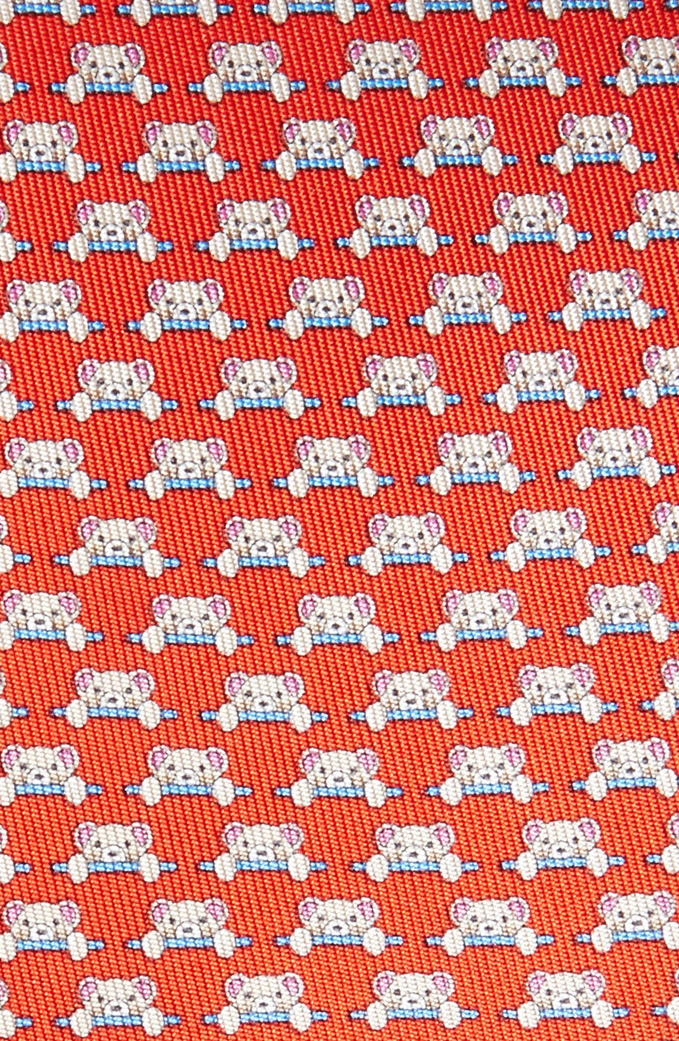 Dino Bear Print Silk Tie,                             Alternate thumbnail 6, color,