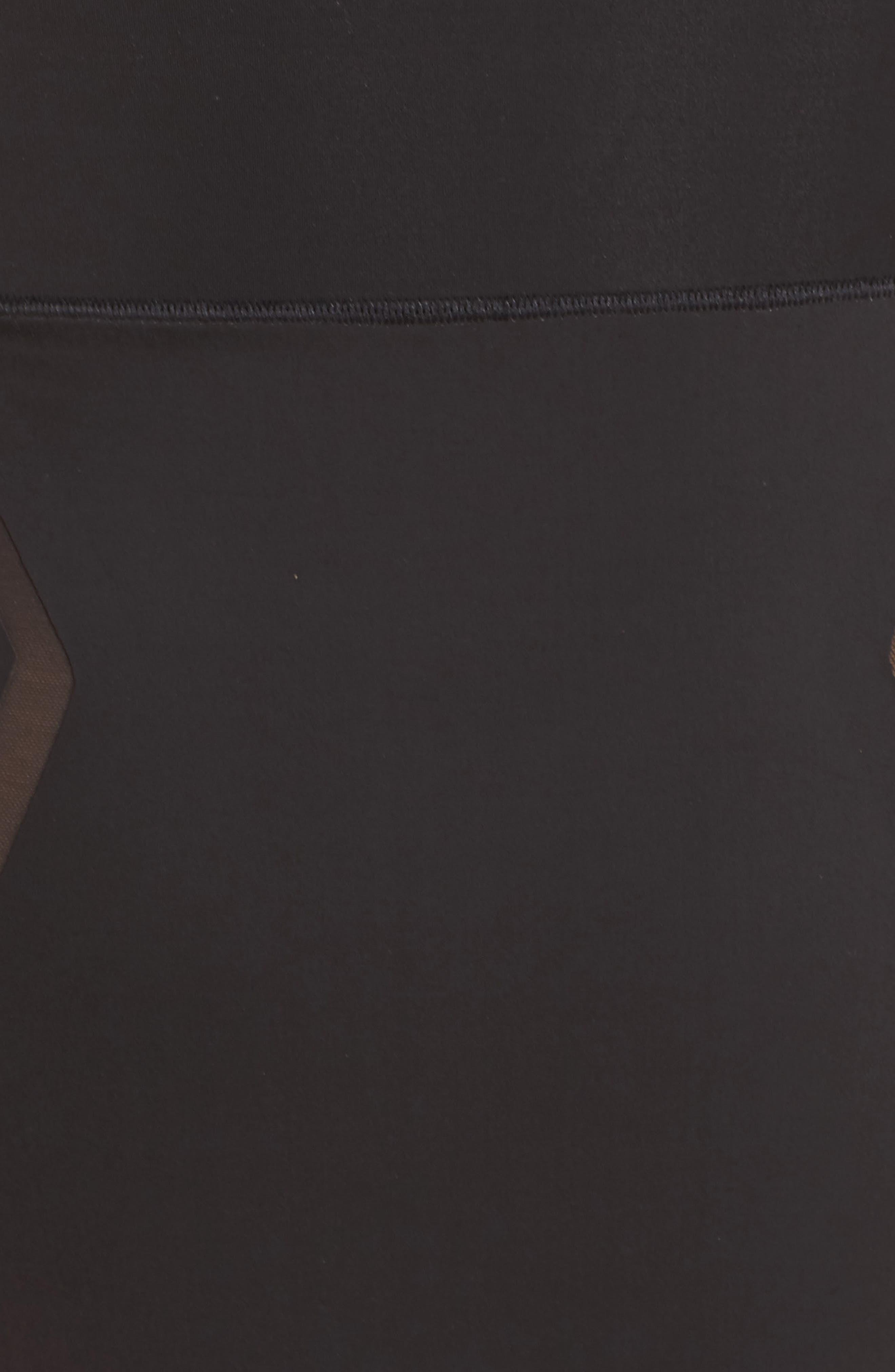 Sculpted Shapewear High Waist Thong,                             Alternate thumbnail 5, color,                             001