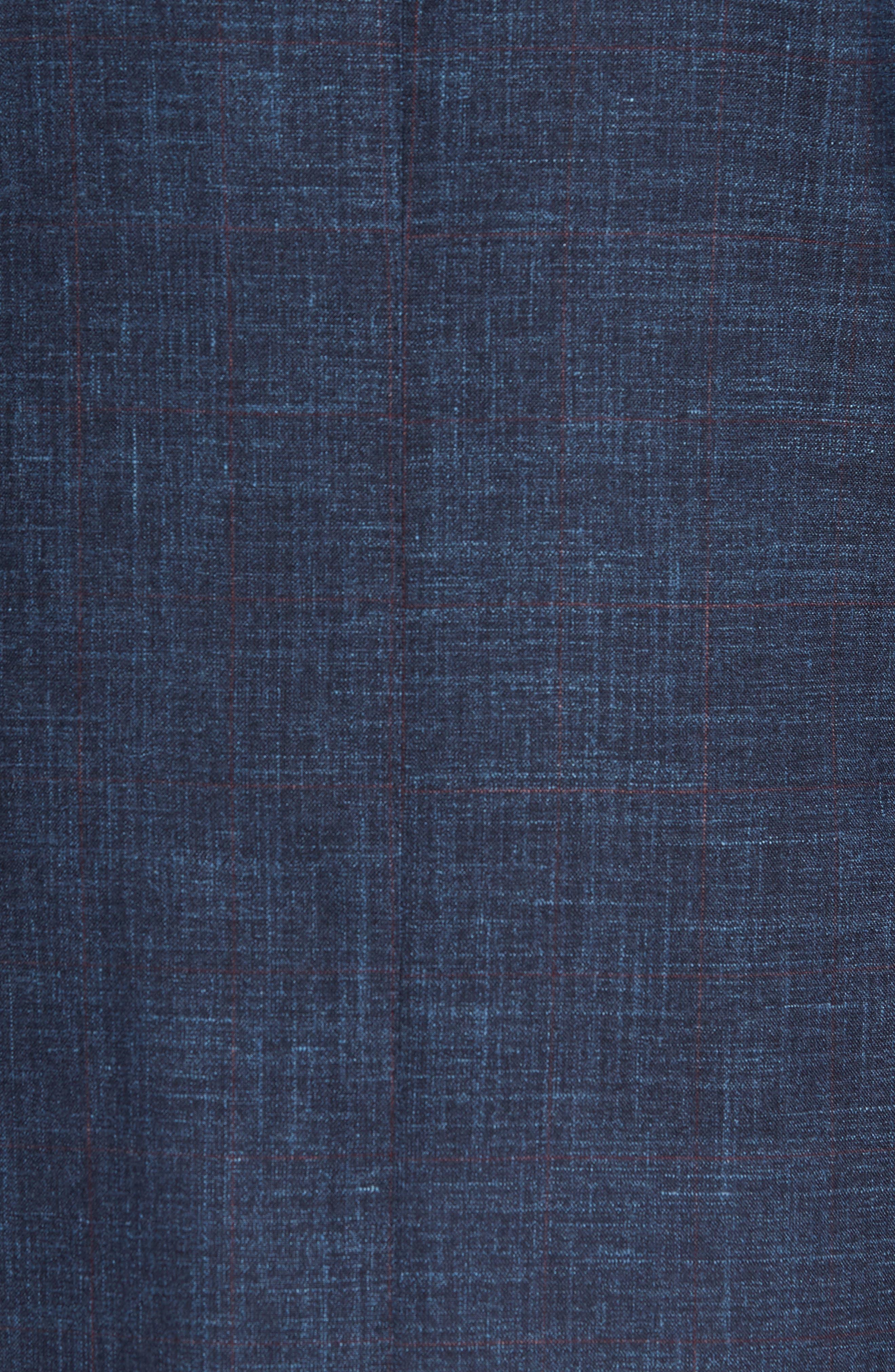 Trim Fit Wool Blend Blazer,                             Alternate thumbnail 6, color,                             404