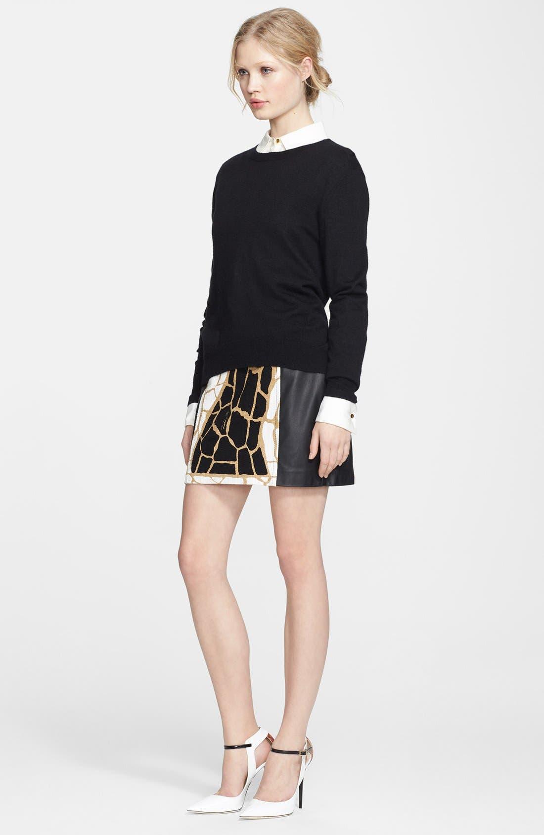 ,                             Rachel Zoe Cashmere Sweater & Miniskirt,                             Alternate thumbnail 2, color,                             001
