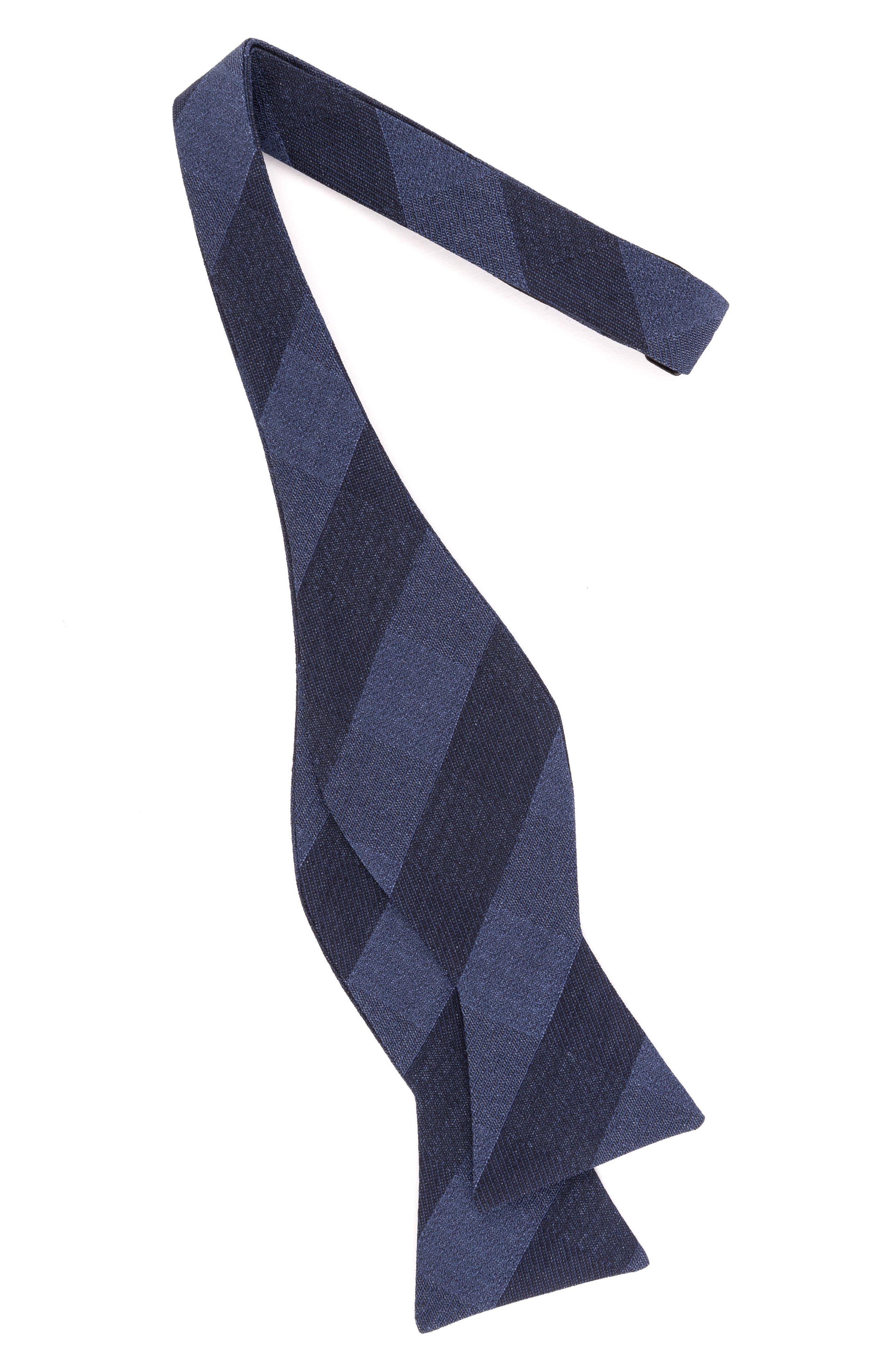 Indigo Wardrobe Silk Bow Tie,                             Alternate thumbnail 2, color,                             430
