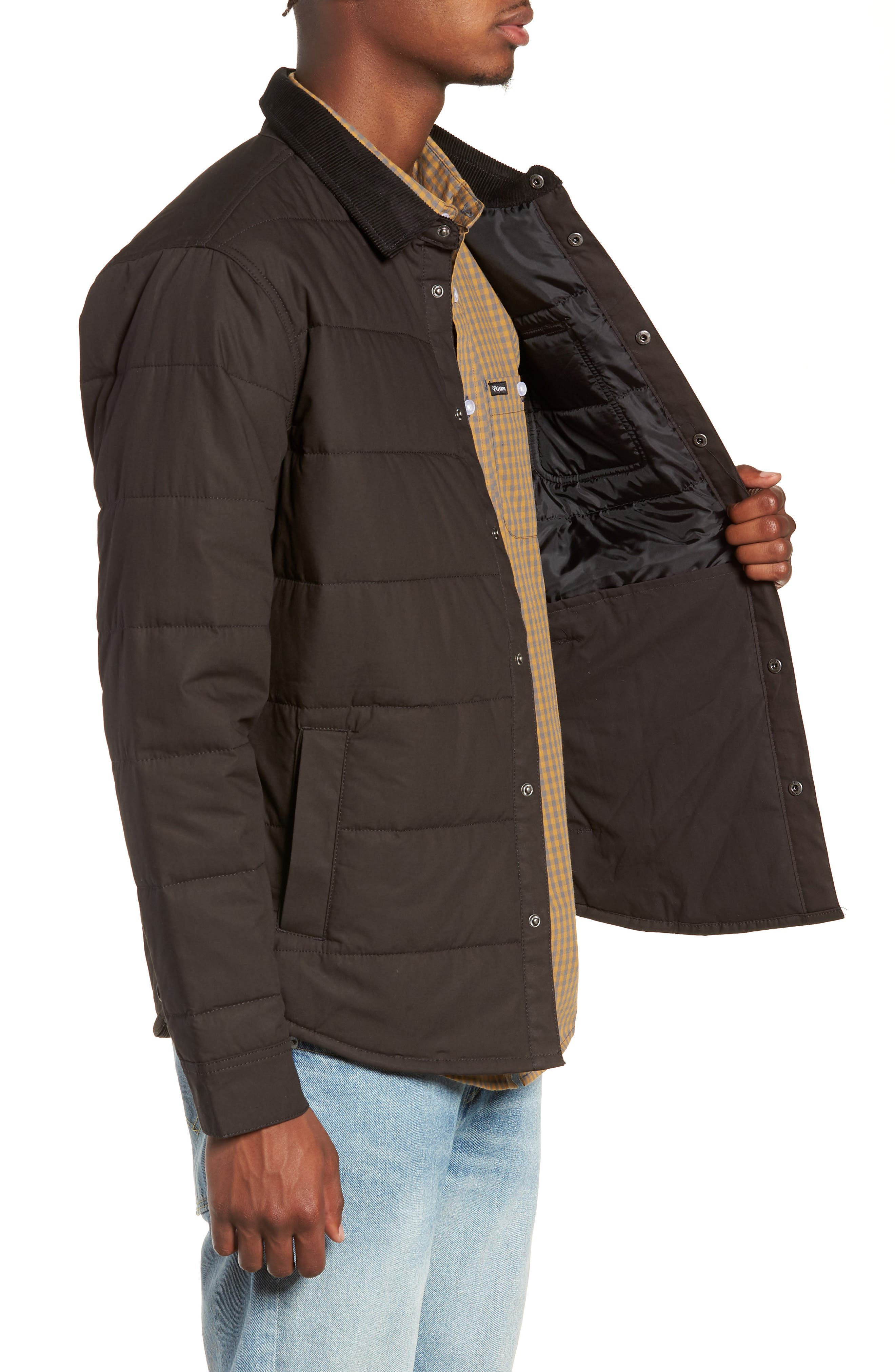 'Cass' Quilted Jacket,                             Alternate thumbnail 3, color,                             008