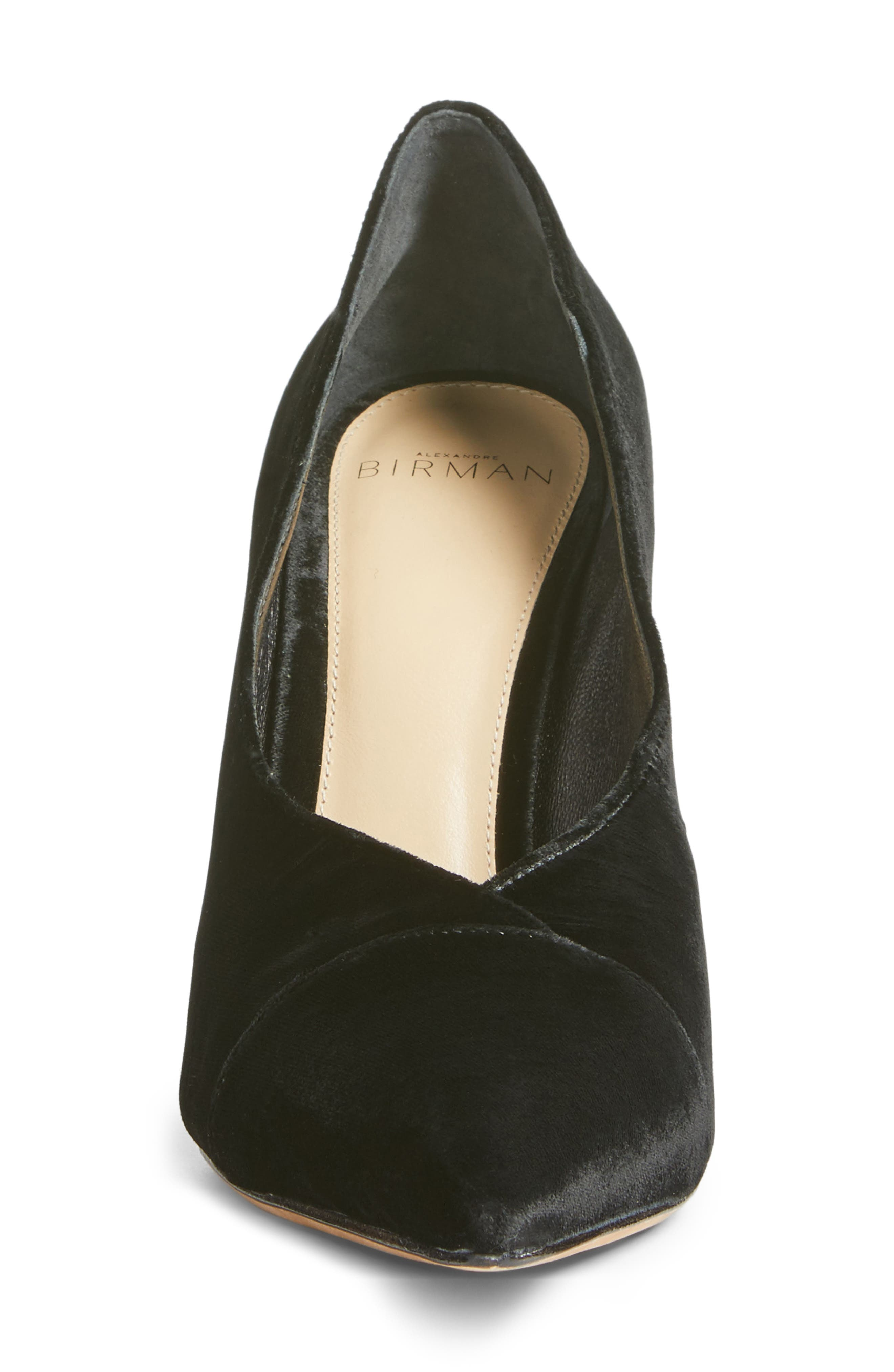 Clarice Pointy Toe Pump,                             Alternate thumbnail 4, color,                             001