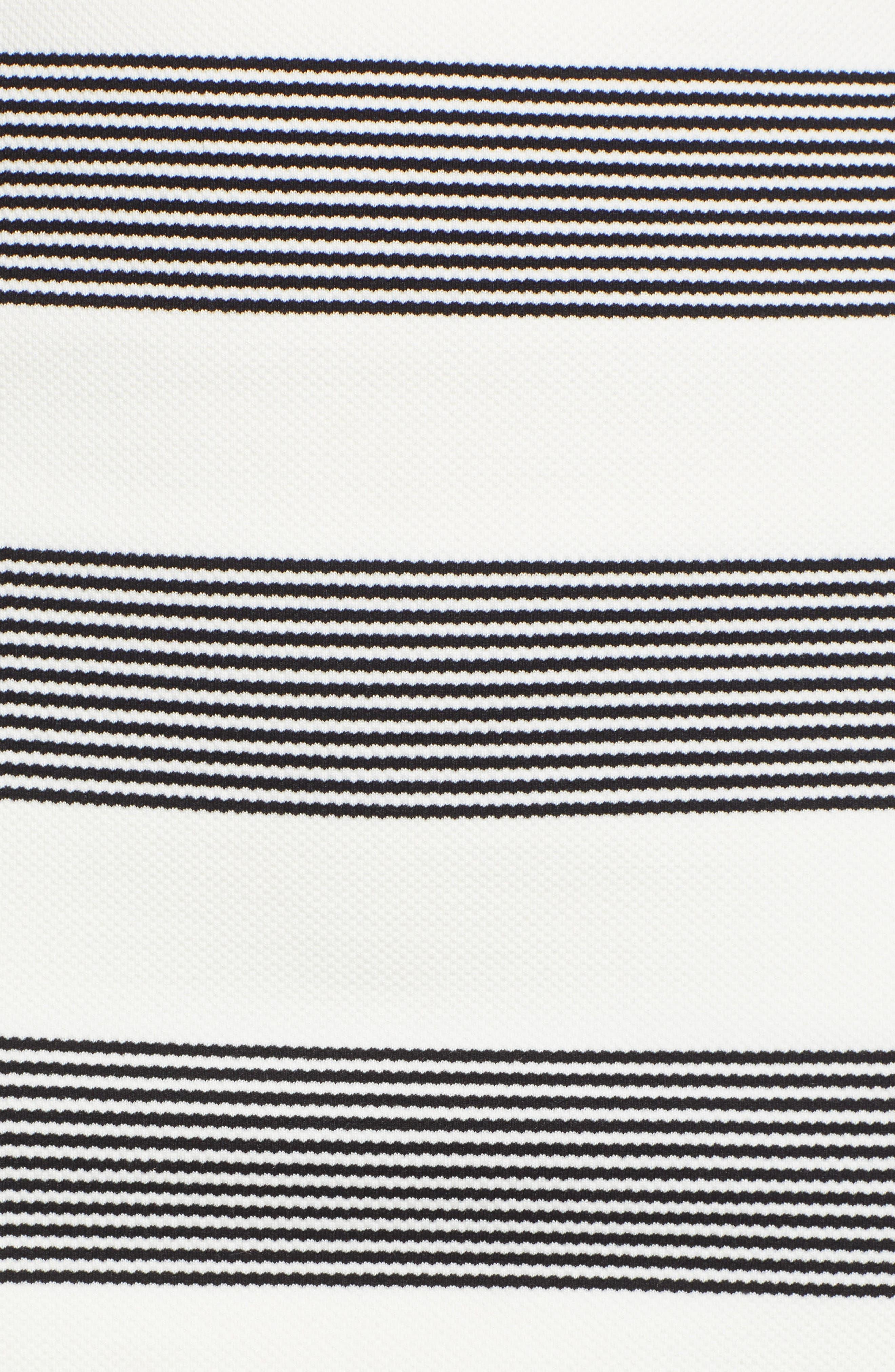 Stripe Miniskirt,                             Alternate thumbnail 5, color,                             BLACK STRIPE