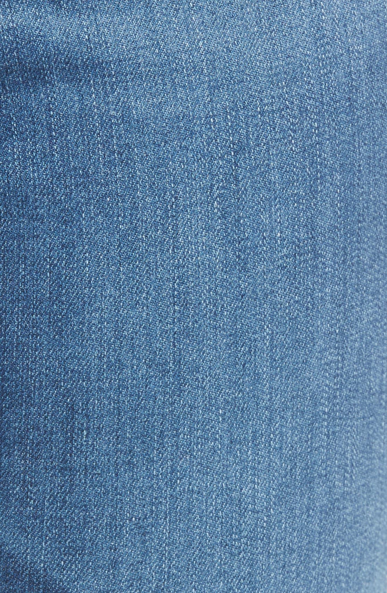 Mila High Waist Ankle Skinny Jeans,                             Alternate thumbnail 6, color,                             416