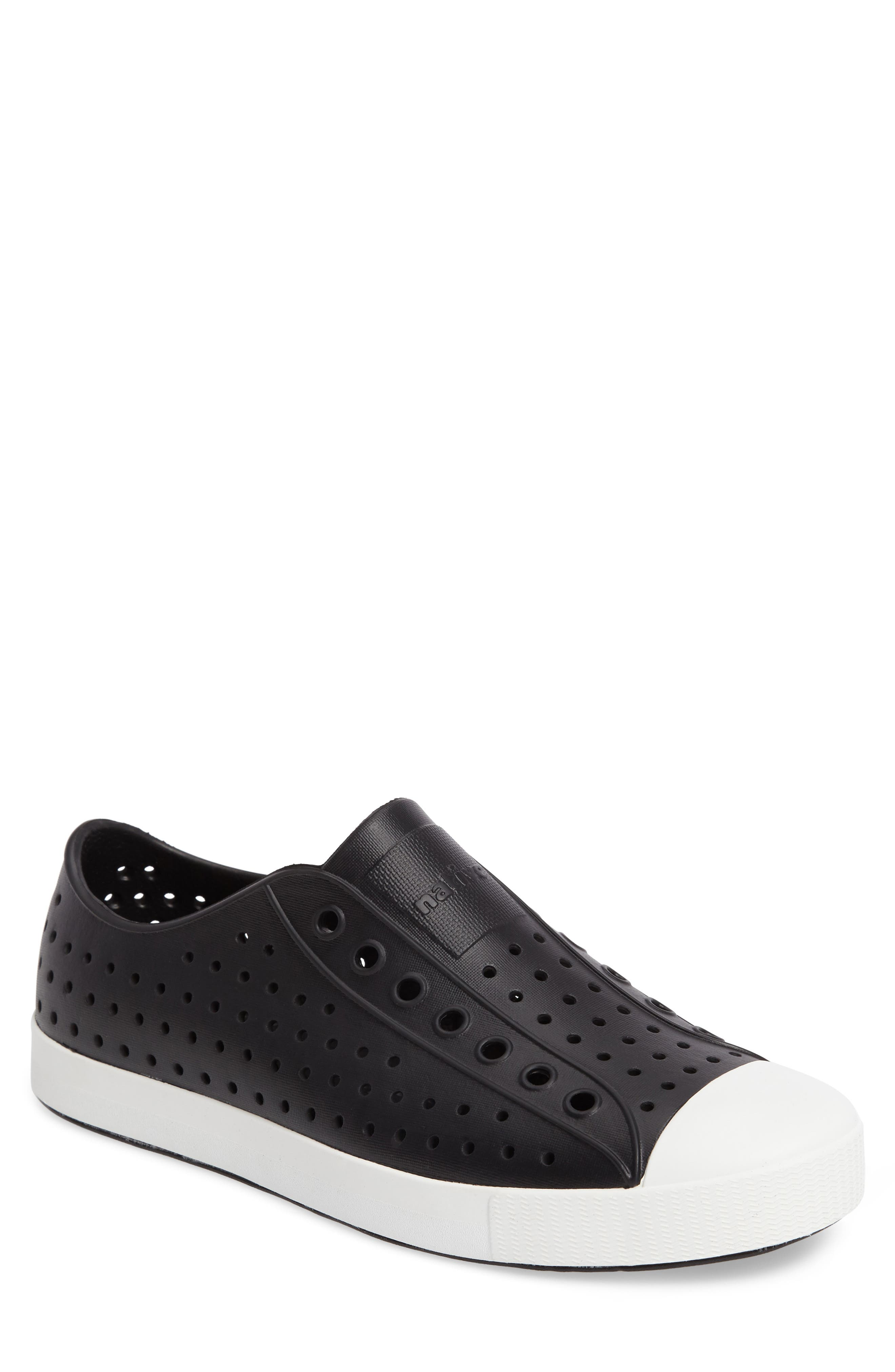 'Jefferson' Slip-On,                         Main,                         color, JIFFY BLACK/ SHELL WHITE