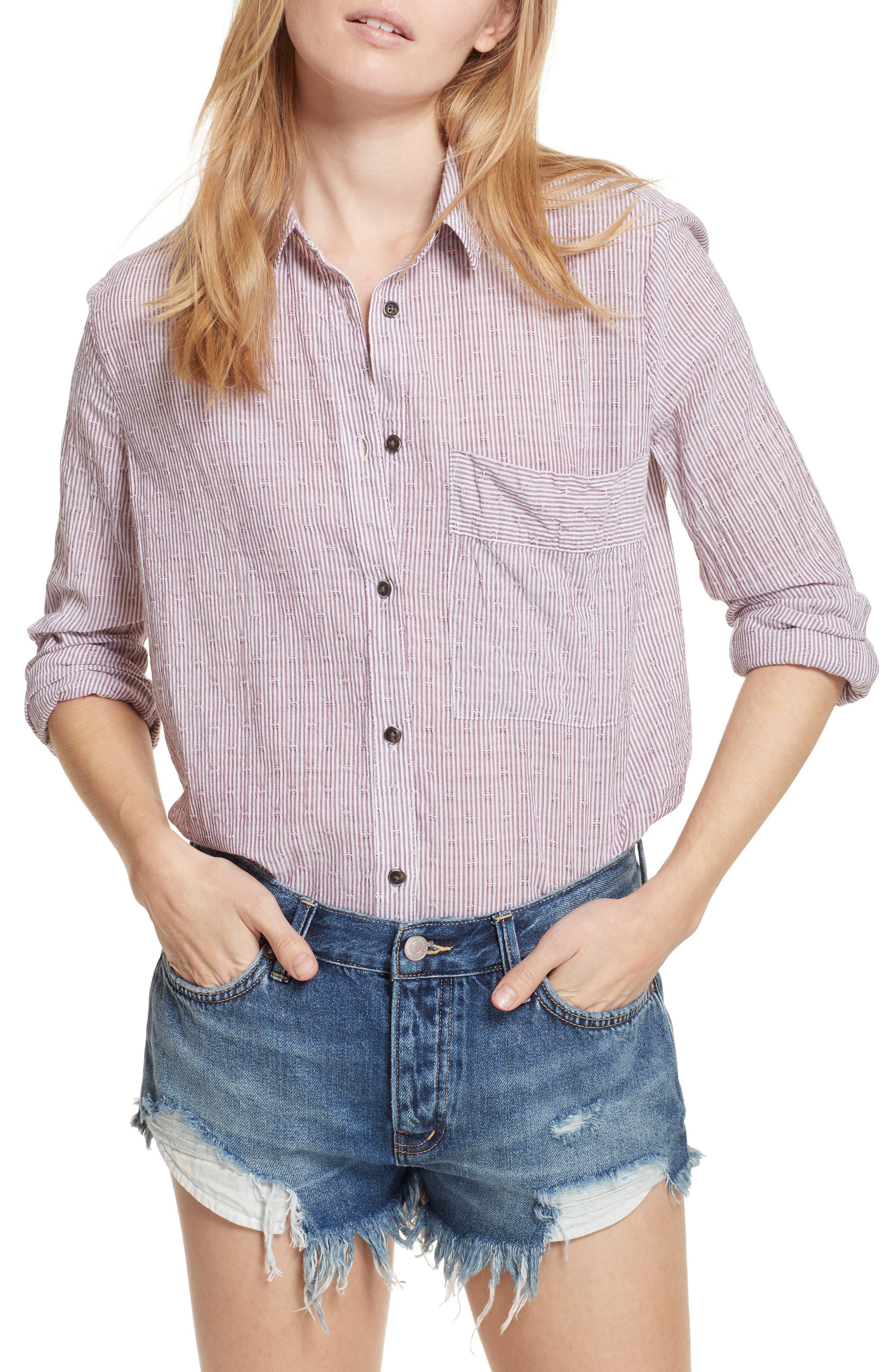 No Limits Stripe Stretch Cotton Shirt,                             Main thumbnail 2, color,