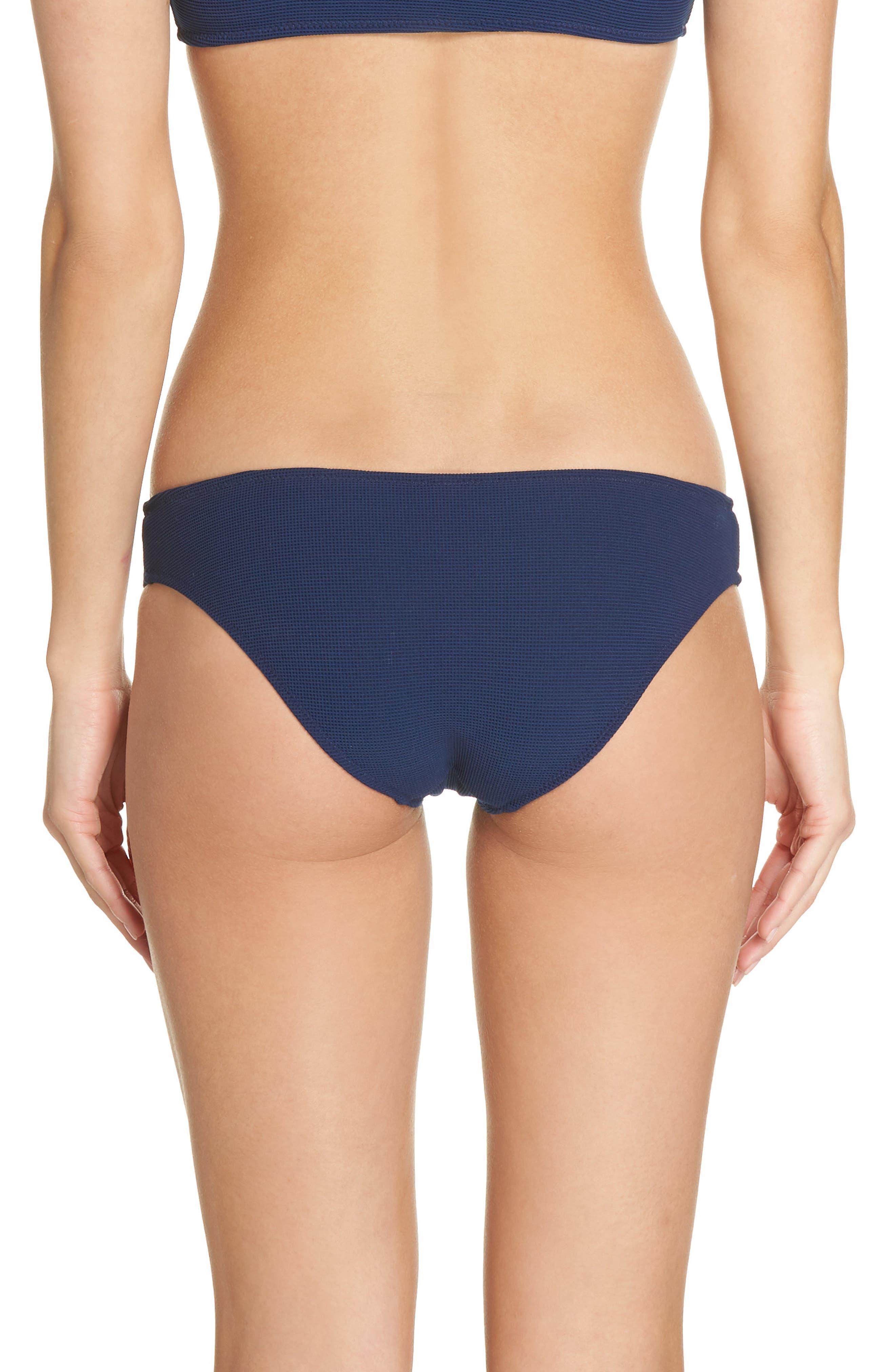 Elle Bikini Bottoms,                             Alternate thumbnail 2, color,                             NAVY PIQUE