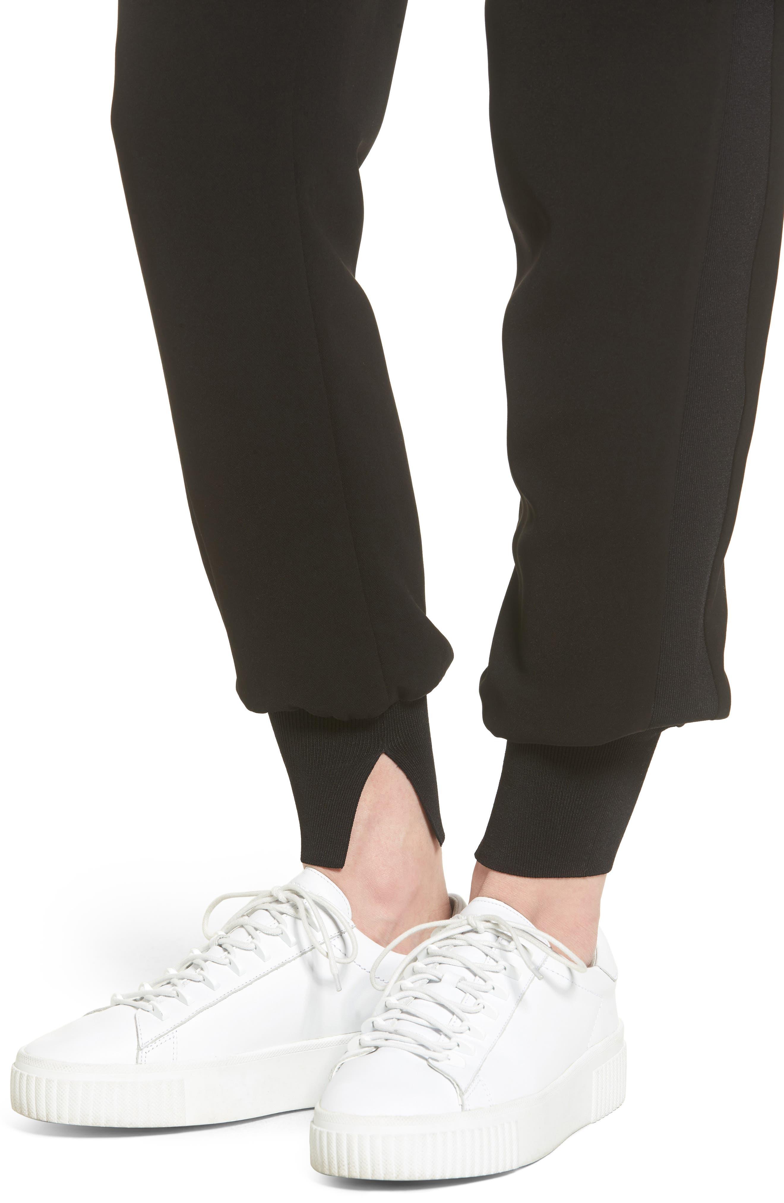 High Waist Jogger Pants,                             Alternate thumbnail 3, color,                             001