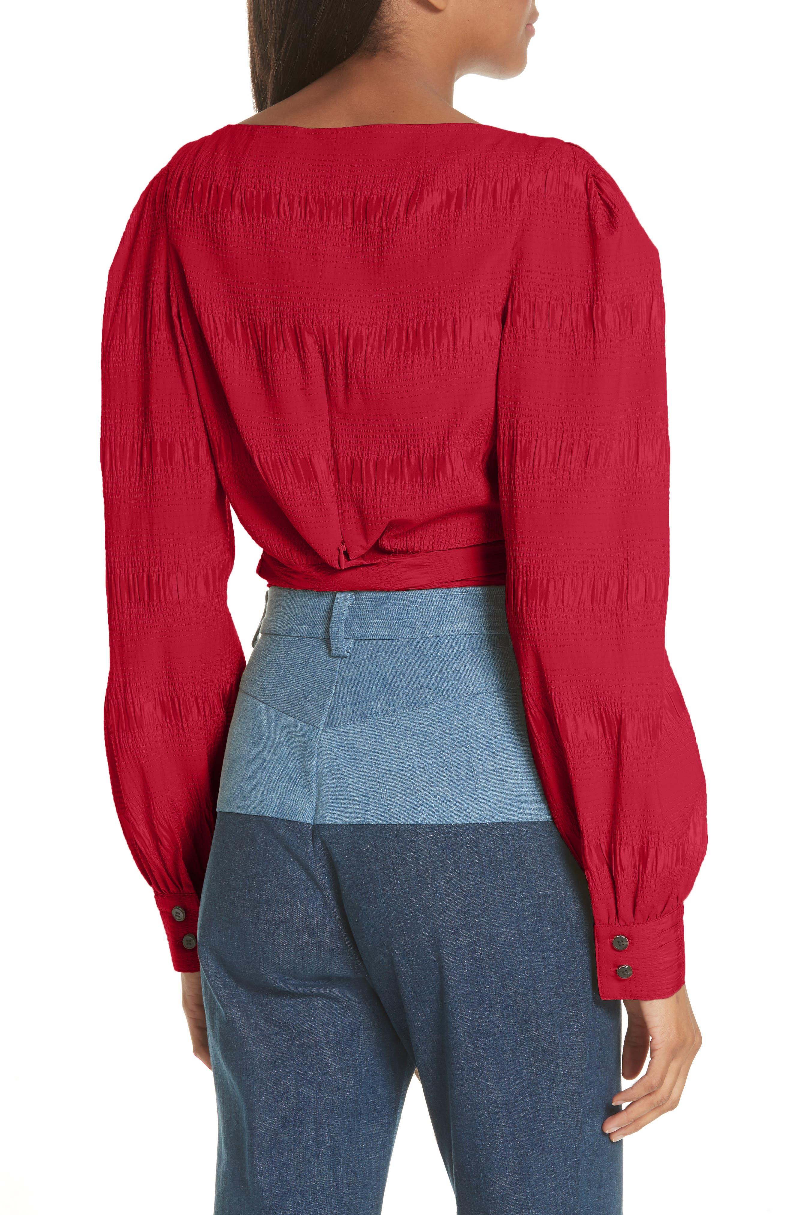 RACHEL COMEY,                             Bounds Tie Waist Silk Blend Top,                             Alternate thumbnail 2, color,                             600