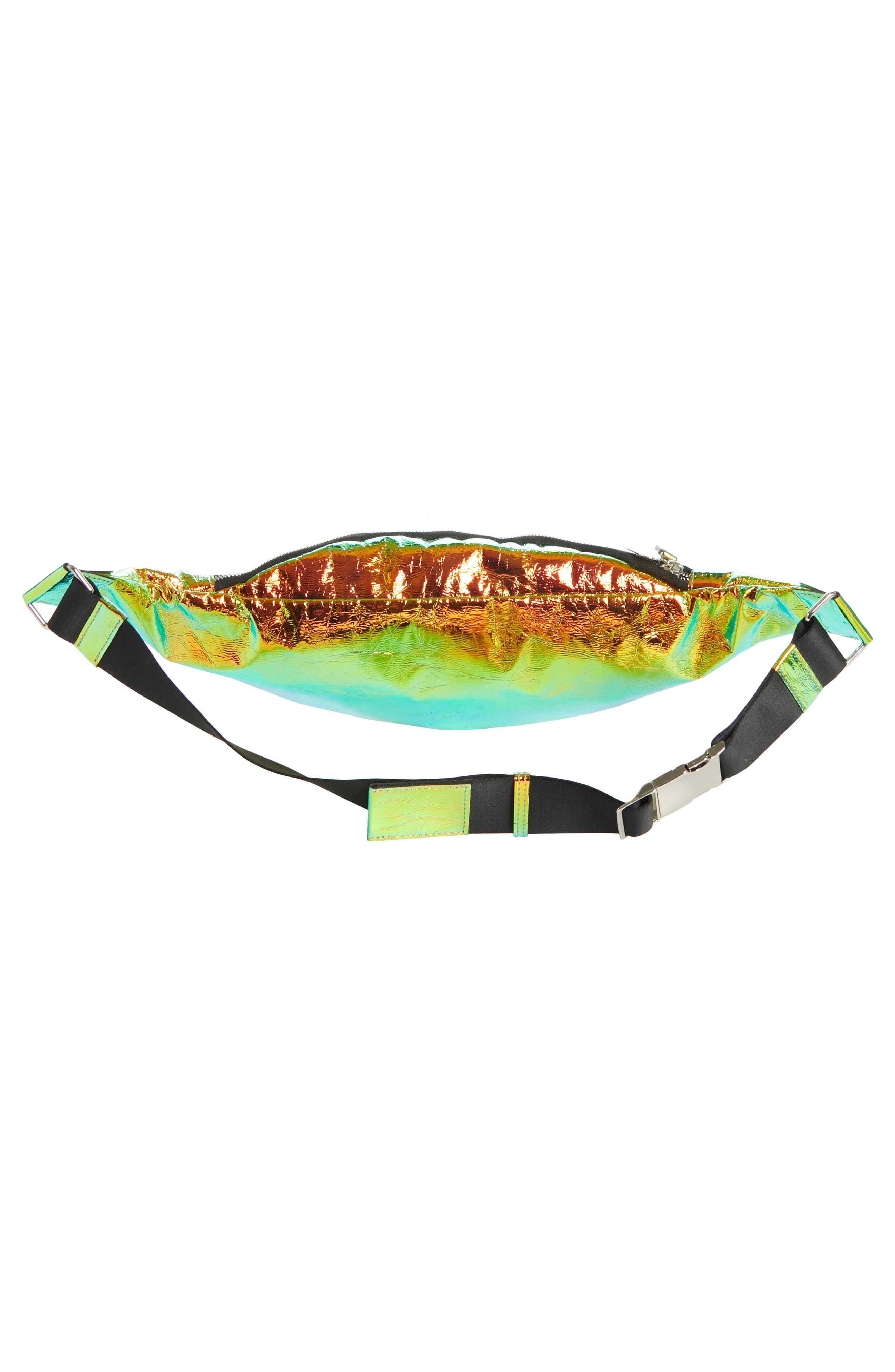 Major Hologram Convertible Belt Bag,                             Alternate thumbnail 3, color,                             BLACK HOLOGRAPHIC