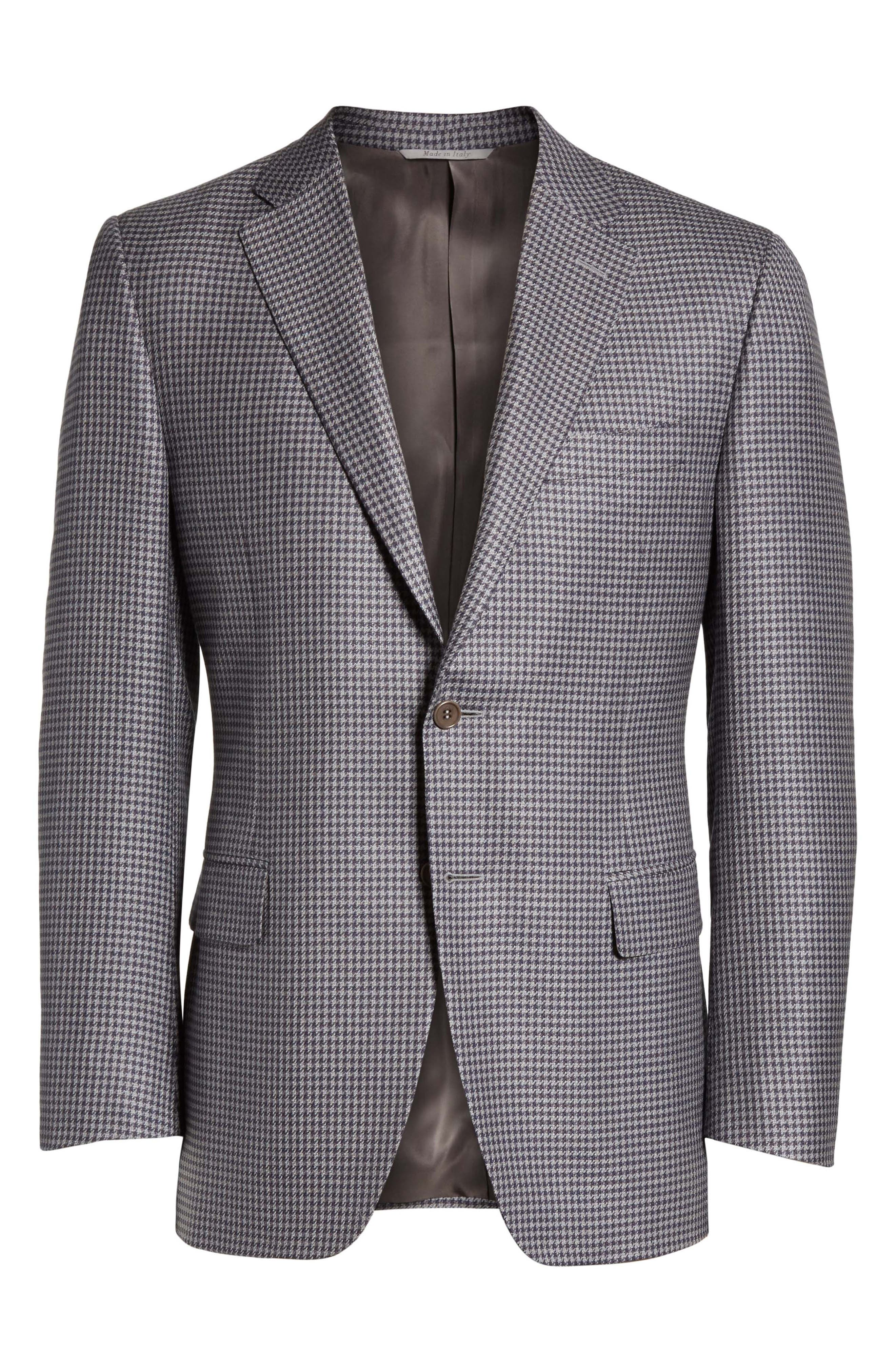 Classic Fit Houndstooth Wool Sport Coat,                             Alternate thumbnail 5, color,                             400