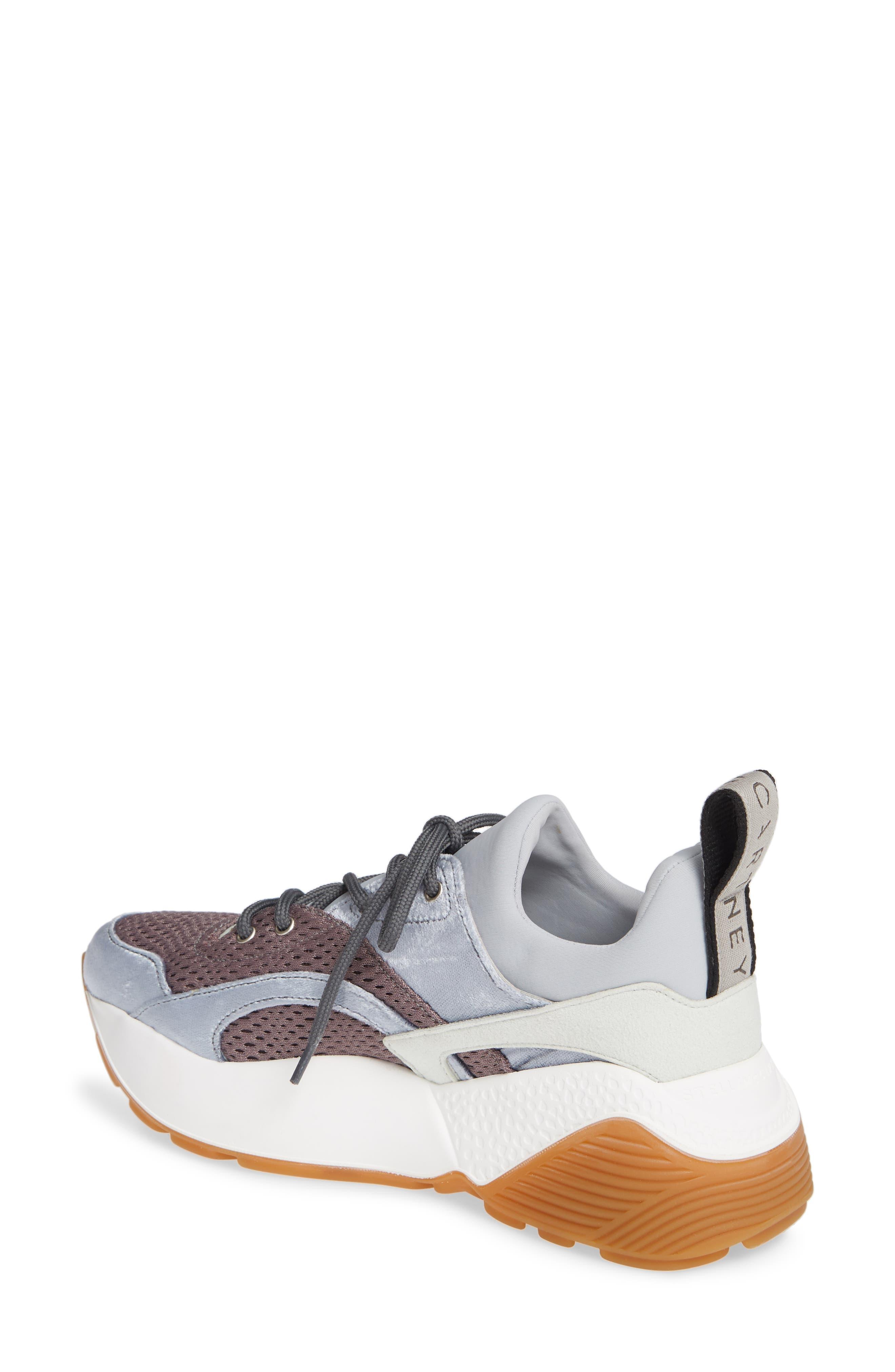Eclypse Lace-Up Sneaker,                             Alternate thumbnail 2, color,                             GREY/ SILVER/ WHITE