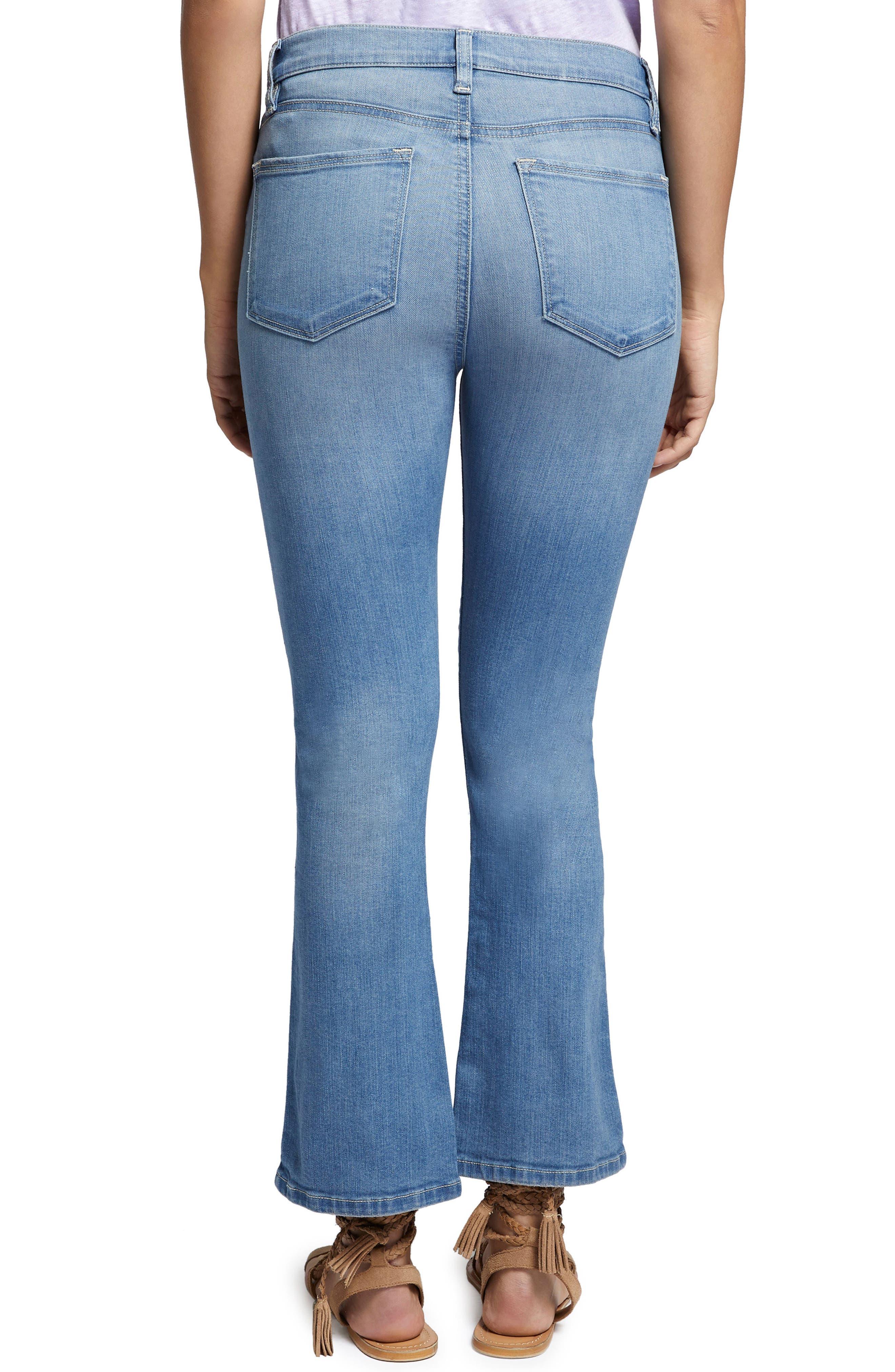 Robbie Crop Flare Jeans,                             Alternate thumbnail 4, color,