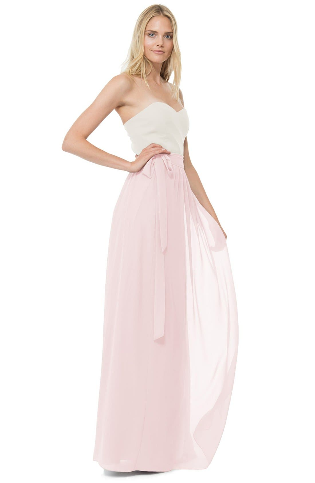 Whitney Chiffon Wrap Maxi Skirt,                             Alternate thumbnail 4, color,                             680