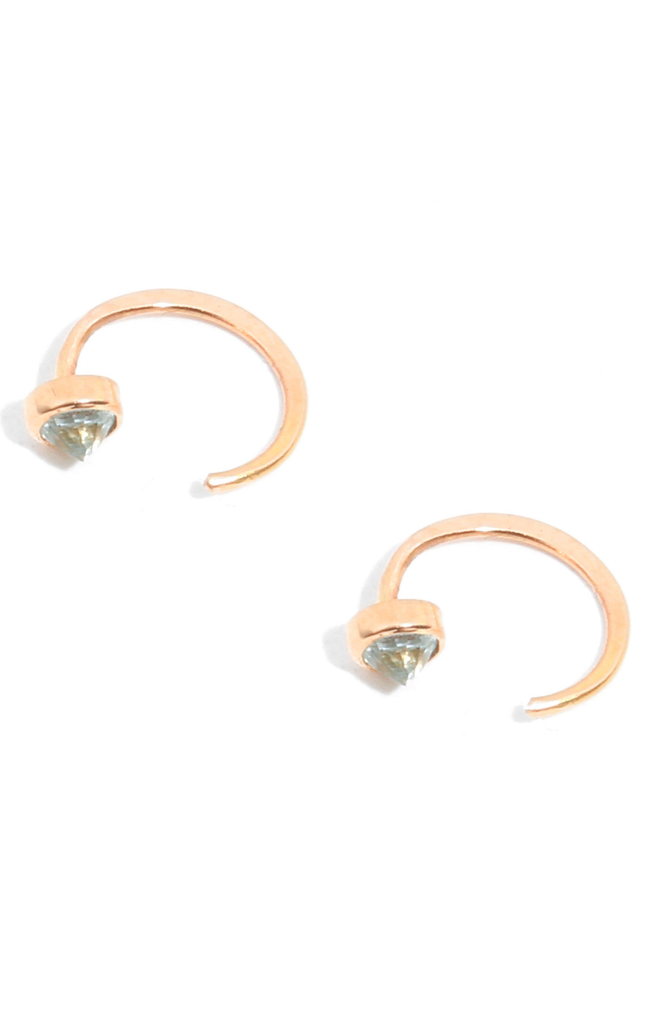 Topaz Hug Hoop Earrings,                             Alternate thumbnail 3, color,                             710