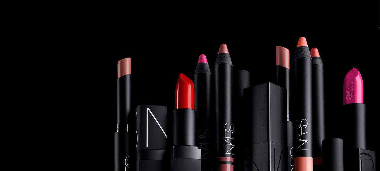 Color your world with NARS lip makeup.
