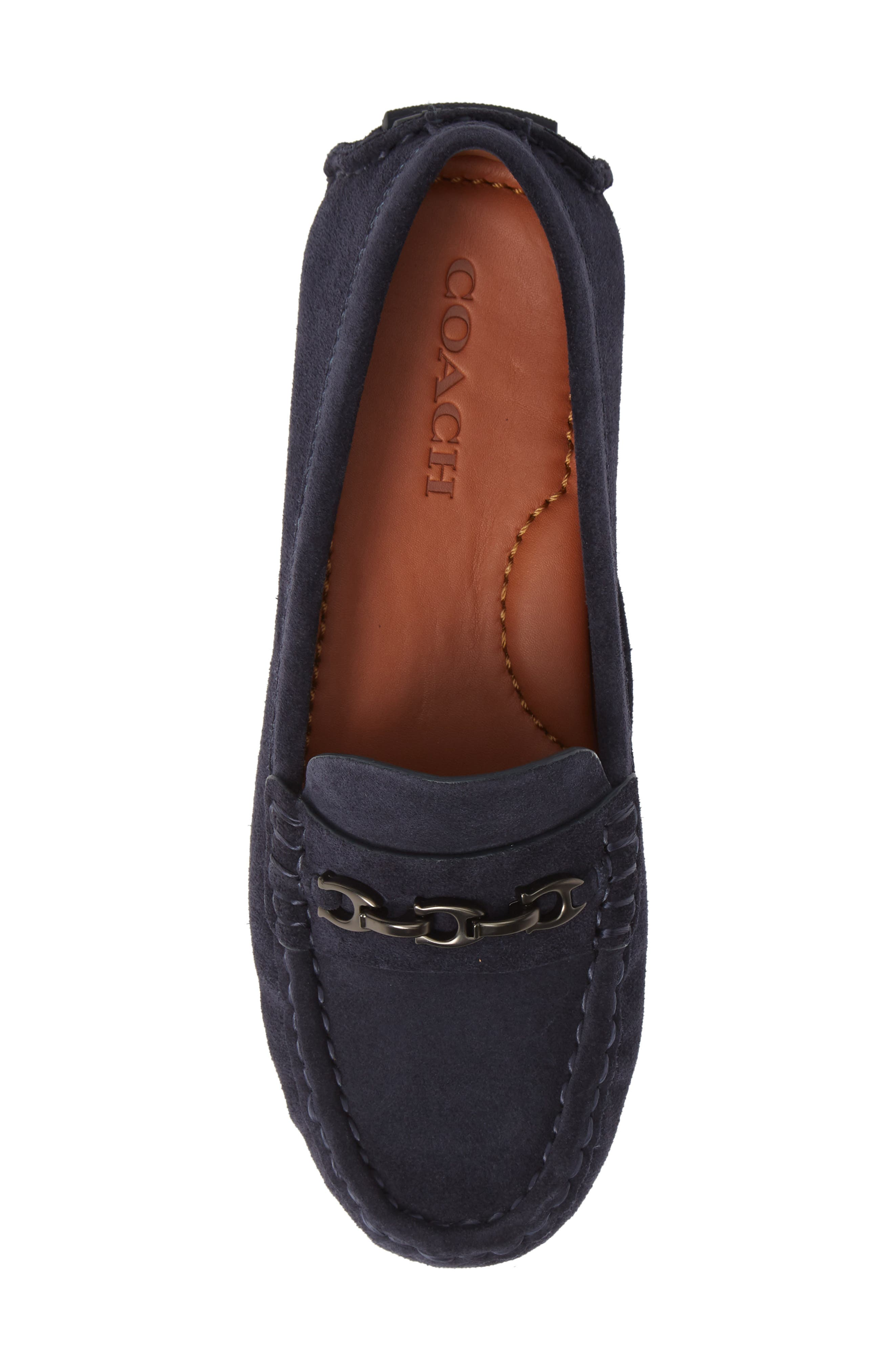 Crosby Driver Loafer,                             Alternate thumbnail 5, color,                             MIDNIGHT NAVY SUEDE