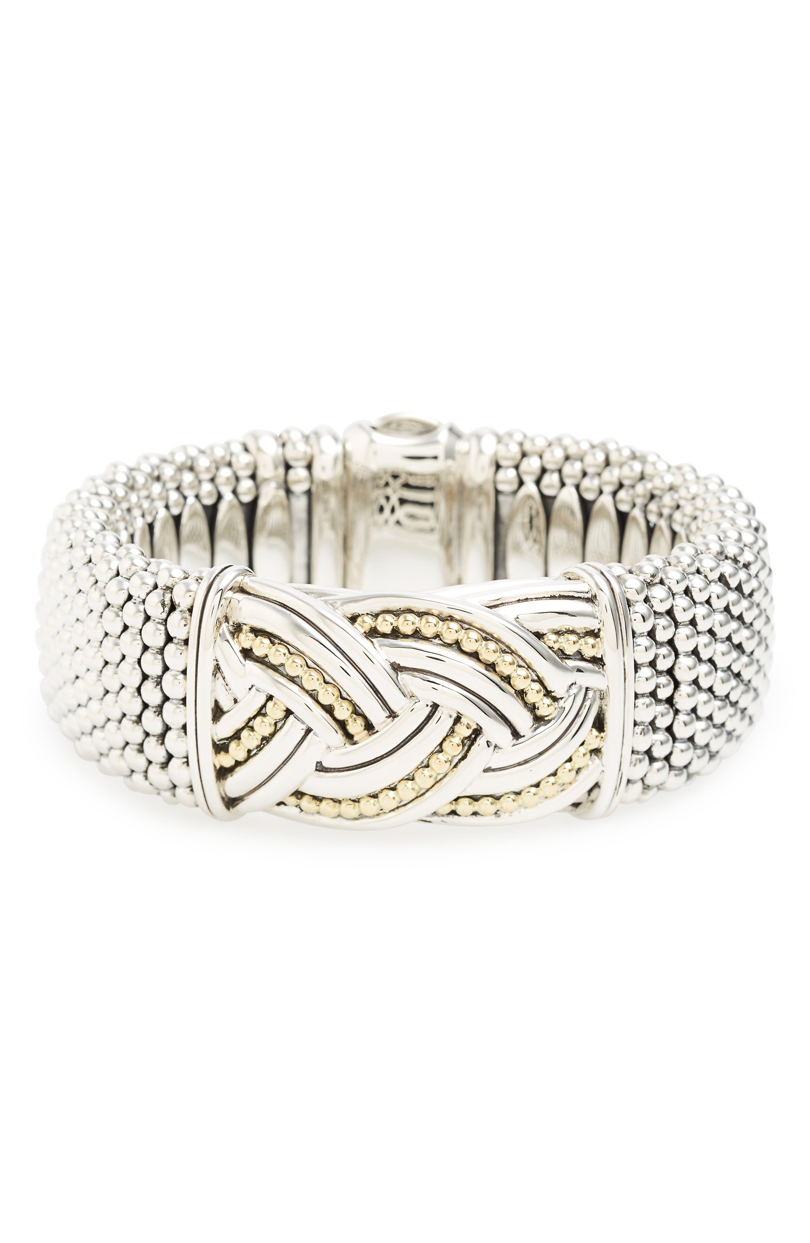 Torsade Wide Rope Bracelet,                             Main thumbnail 1, color,                             040