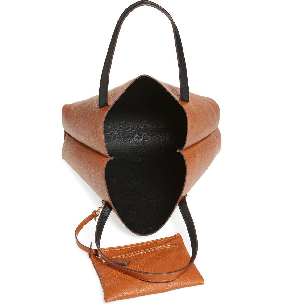 fe172fd8e5 Street Level Reversible Faux Leather Tote   Wristlet