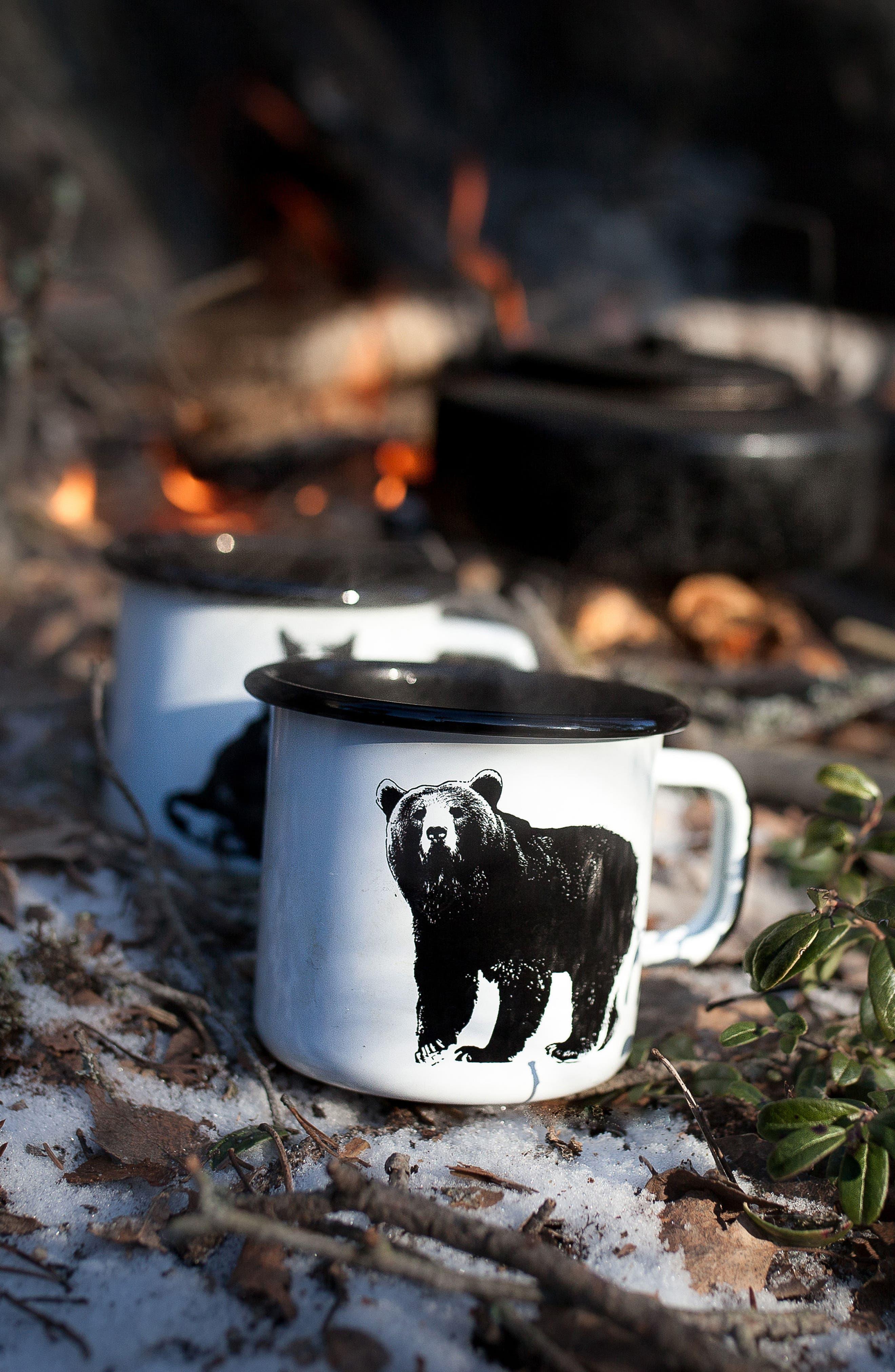 Bear Enamel Mug,                             Alternate thumbnail 2, color,                             100