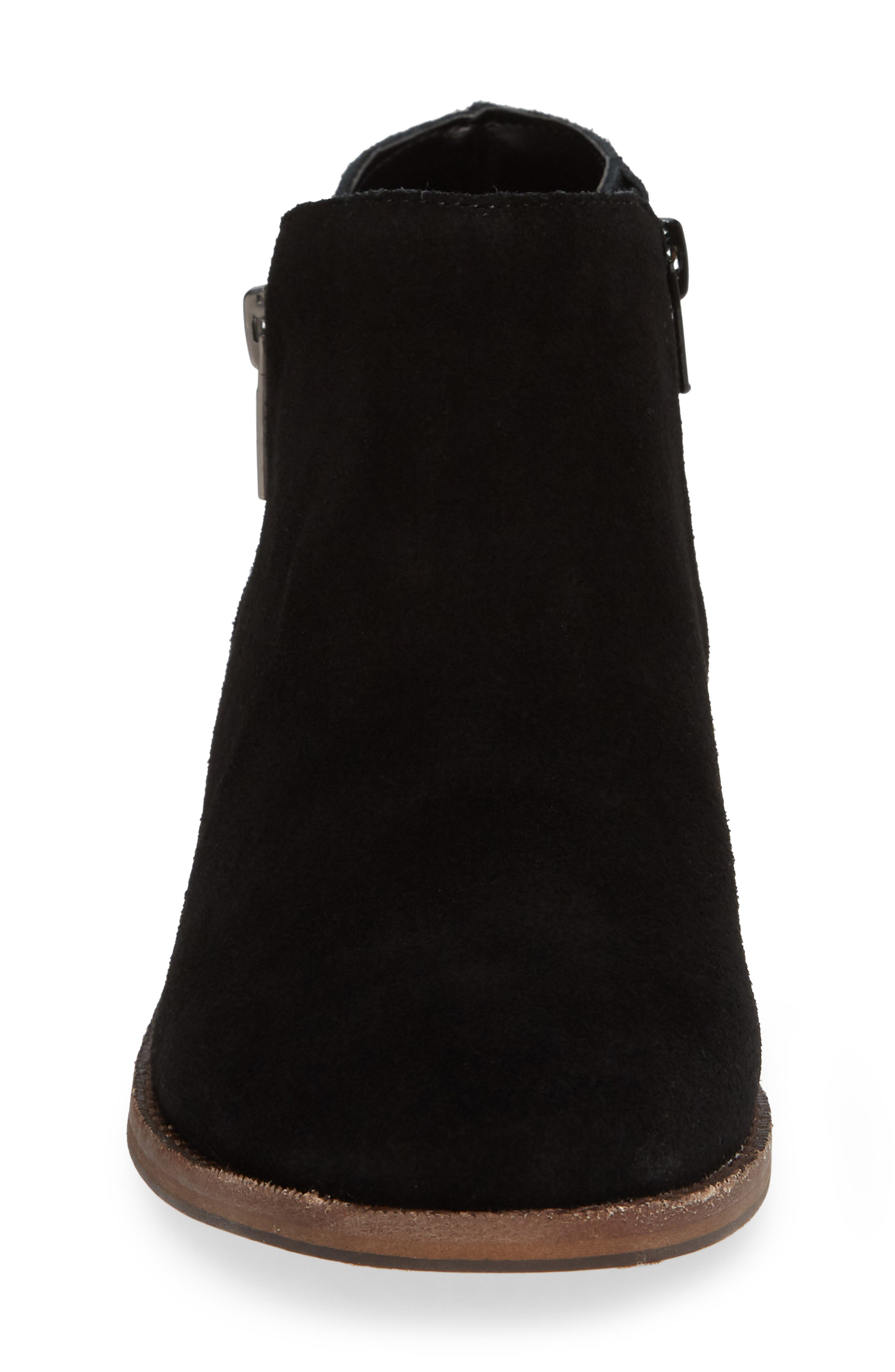 Bevlyn Bootie,                             Alternate thumbnail 4, color,                             BLACK SUEDE