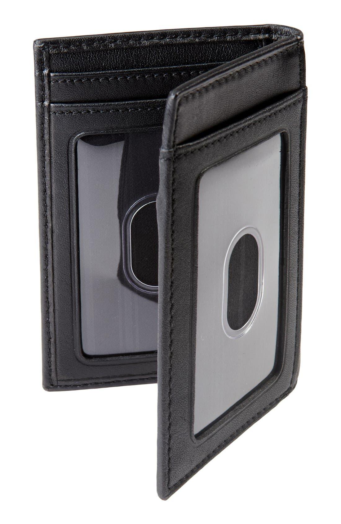 Delta - ID Lock<sup>™</sup> Shielded Multi Window Card Case,                             Alternate thumbnail 6, color,                             BLACK