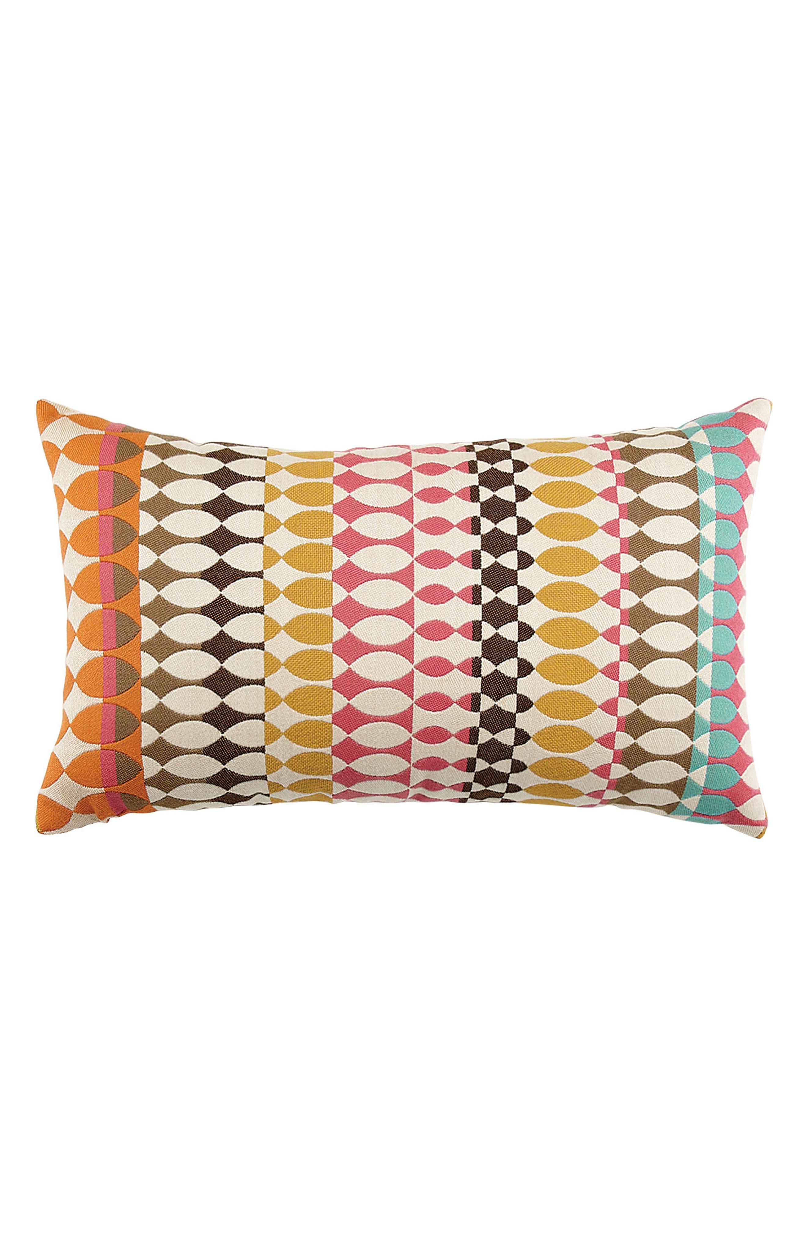 Modern Oval Candy Lumbar Pillow,                             Main thumbnail 1, color,                             PINK MULTI