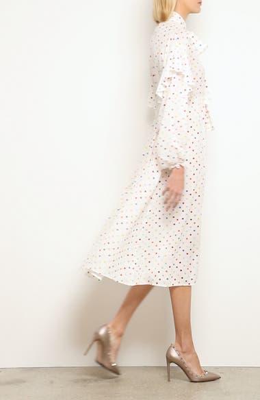 Polka Dot Silk Georgette Dress, video thumbnail