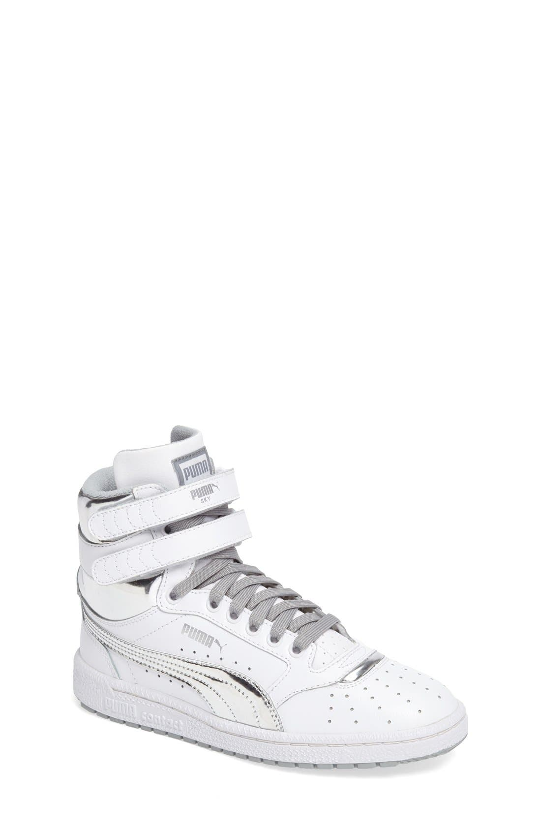 Sky II Hi Foil Jr Sneaker,                         Main,                         color, 100