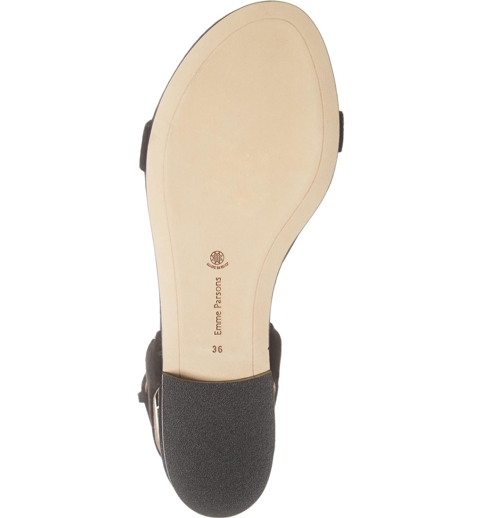 31e3e4fca00d Emme Parsons One Ankle Strap Flat Sandal (Women)