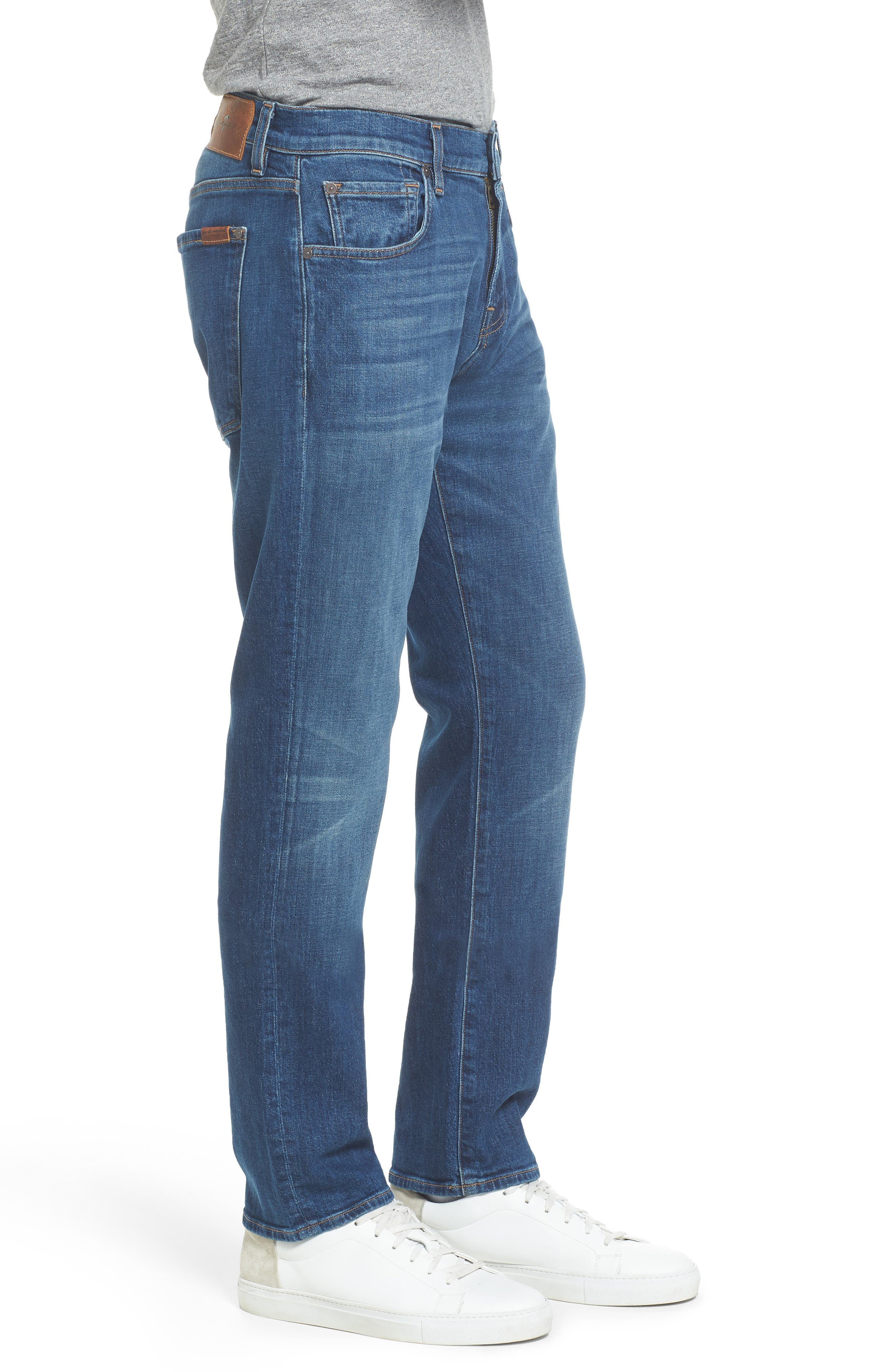 The Straight Slim Straight Leg Jeans,                             Alternate thumbnail 3, color,