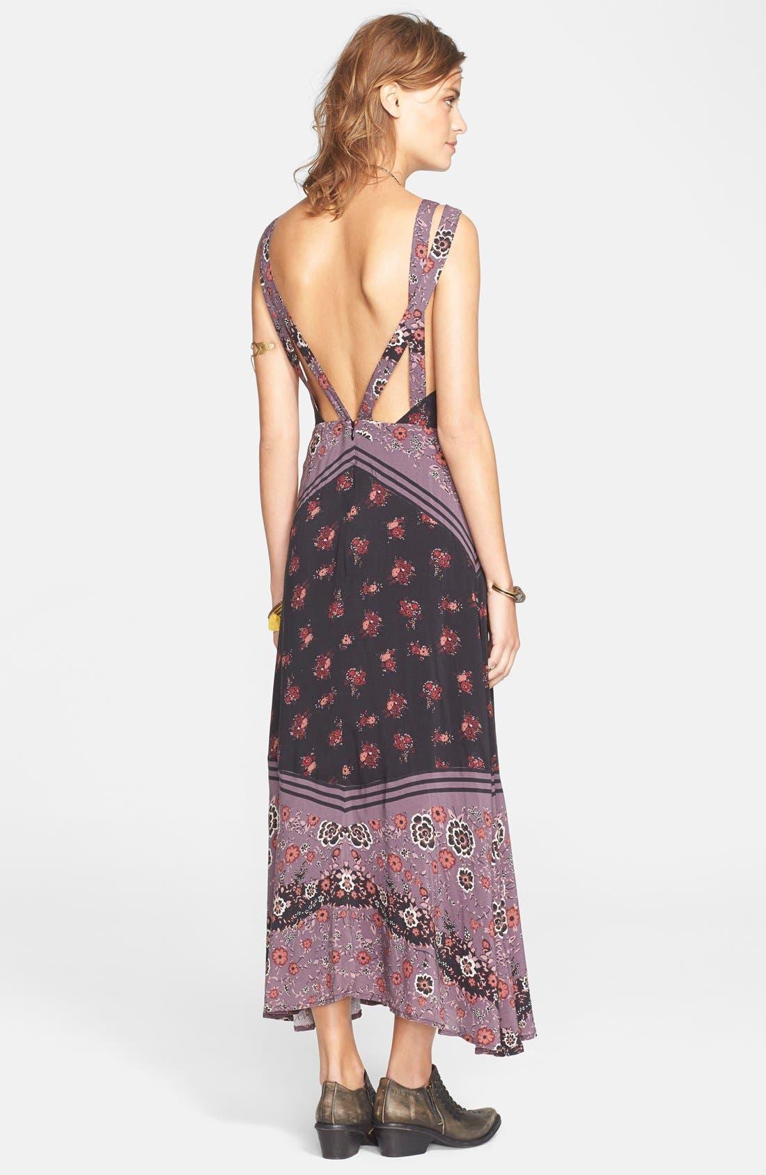 FREE PEOPLE,                             'Sunrise Oblivion' Floral Print Dress,                             Alternate thumbnail 2, color,                             001