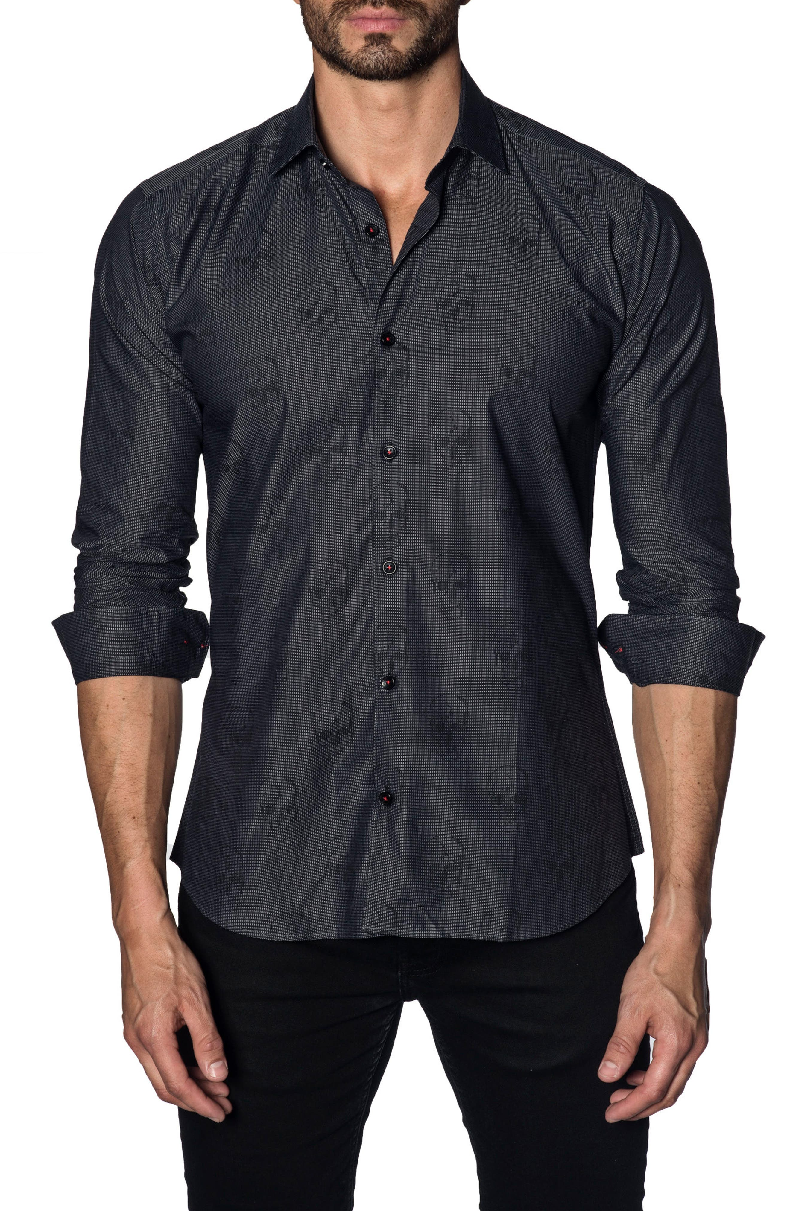 Trim Fit Sport Shirt,                             Main thumbnail 1, color,                             001