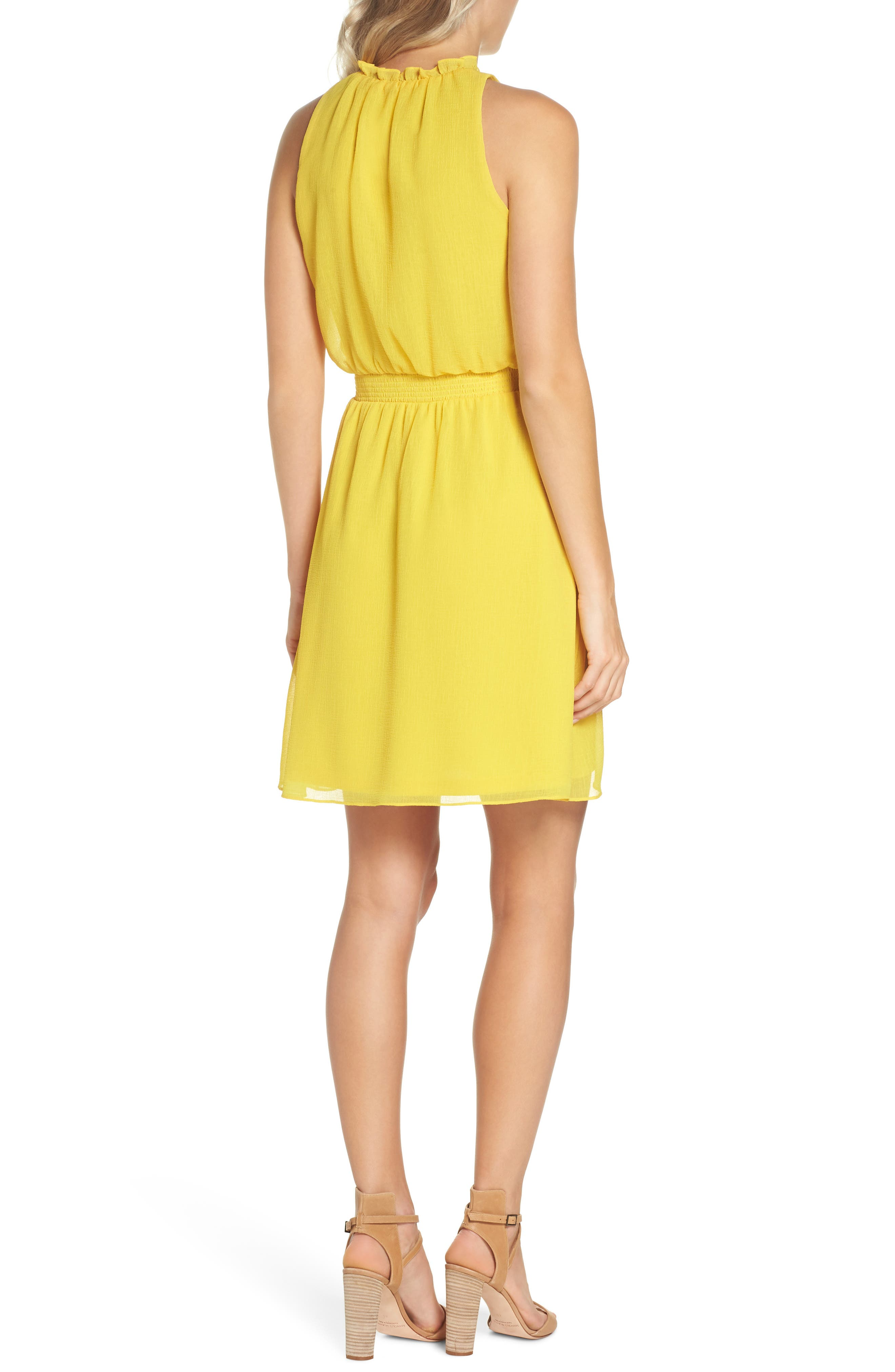 Sleeveless Chiffon Blouson Dress,                             Alternate thumbnail 2, color,                             724