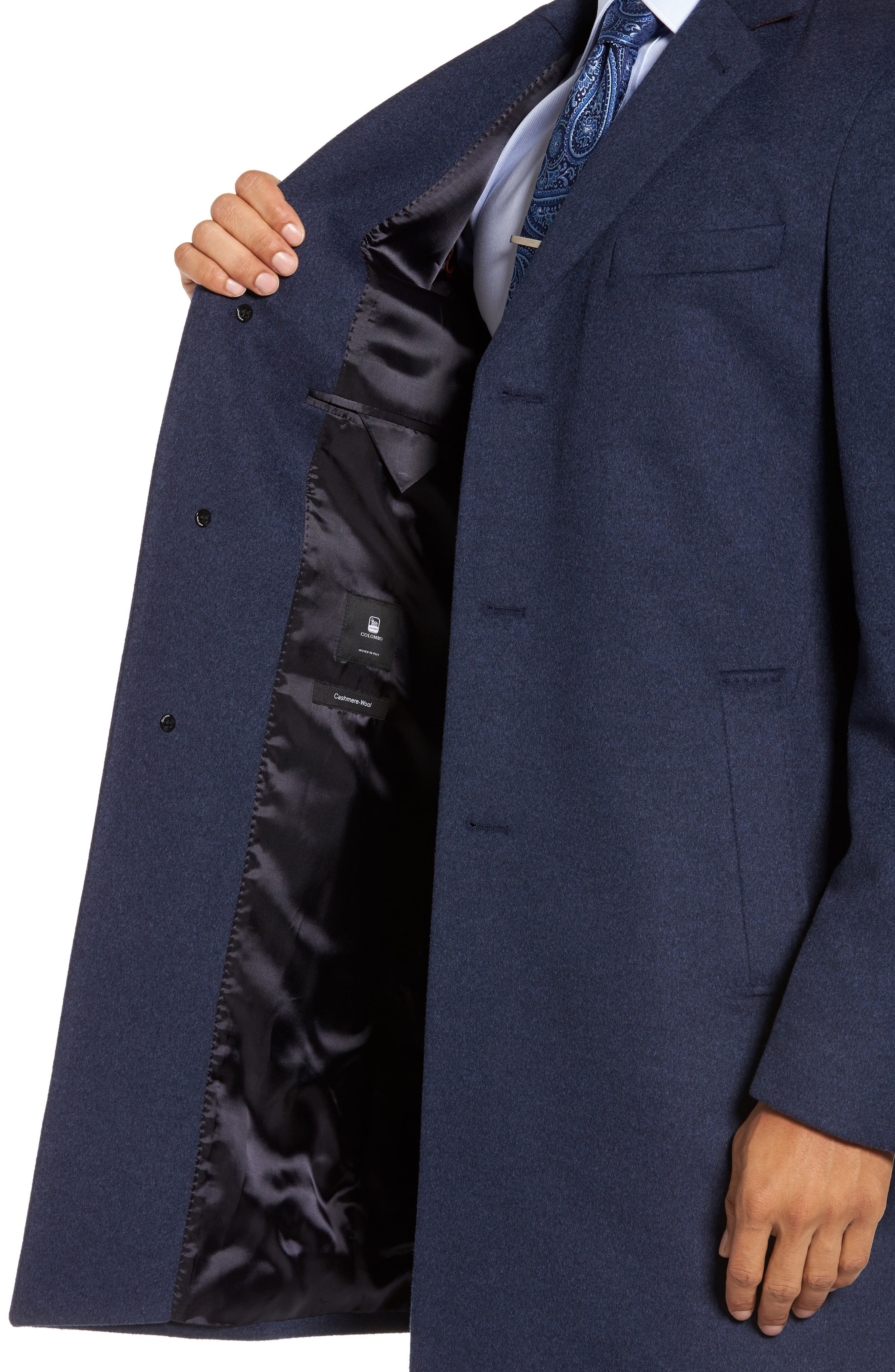 Nye Wool & Cashmere Topcoat,                             Alternate thumbnail 3, color,