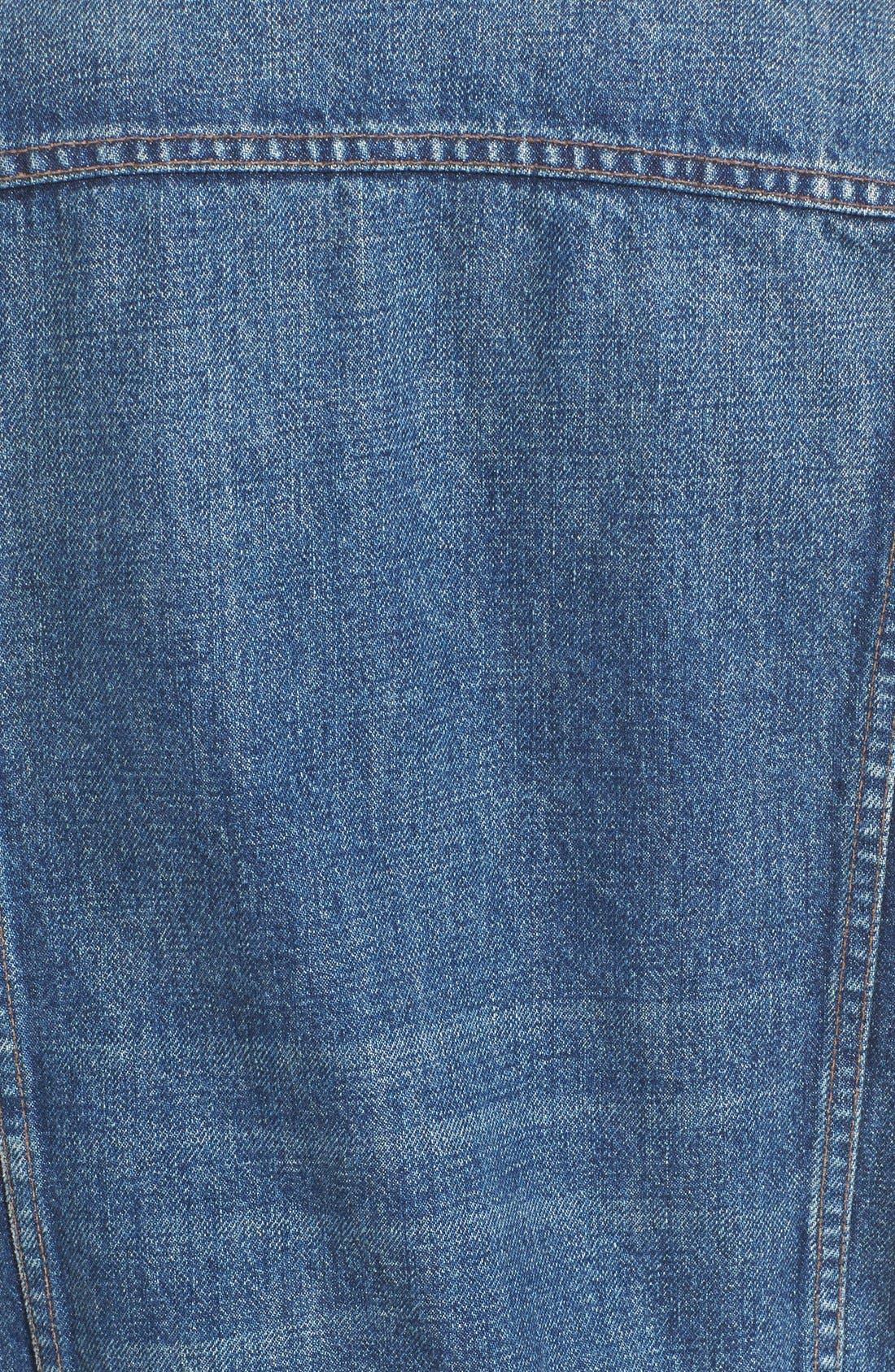 HELMUT LANG,                             Denim Trench Coat,                             Alternate thumbnail 4, color,                             422