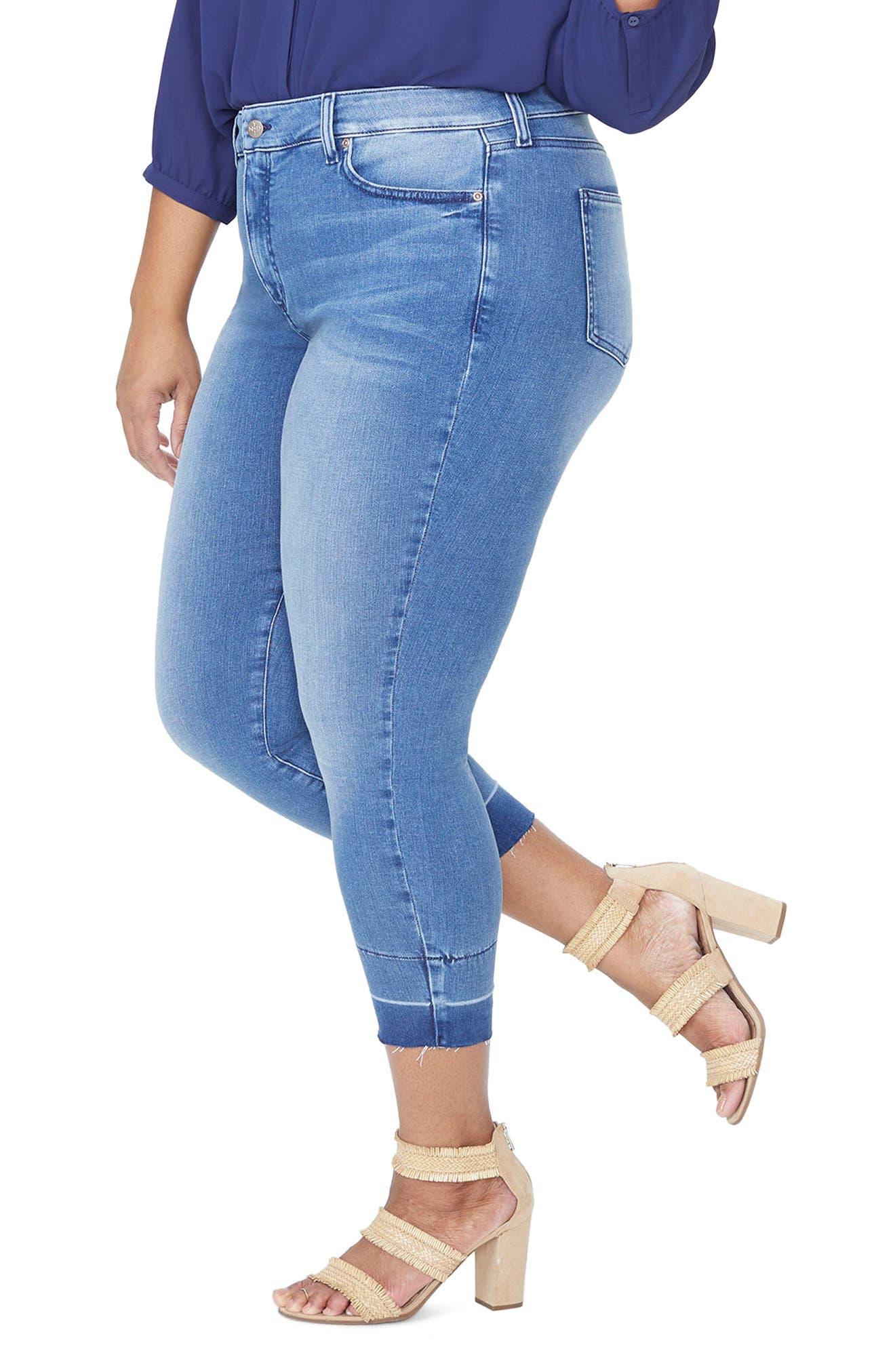 Alina Release Hem Ankle Skinny Jeans,                             Alternate thumbnail 3, color,                             410