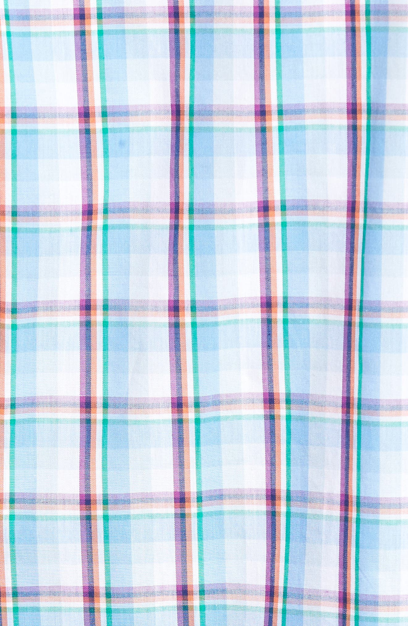 Pinyon Plaid Sport Shirt,                             Alternate thumbnail 5, color,                             435