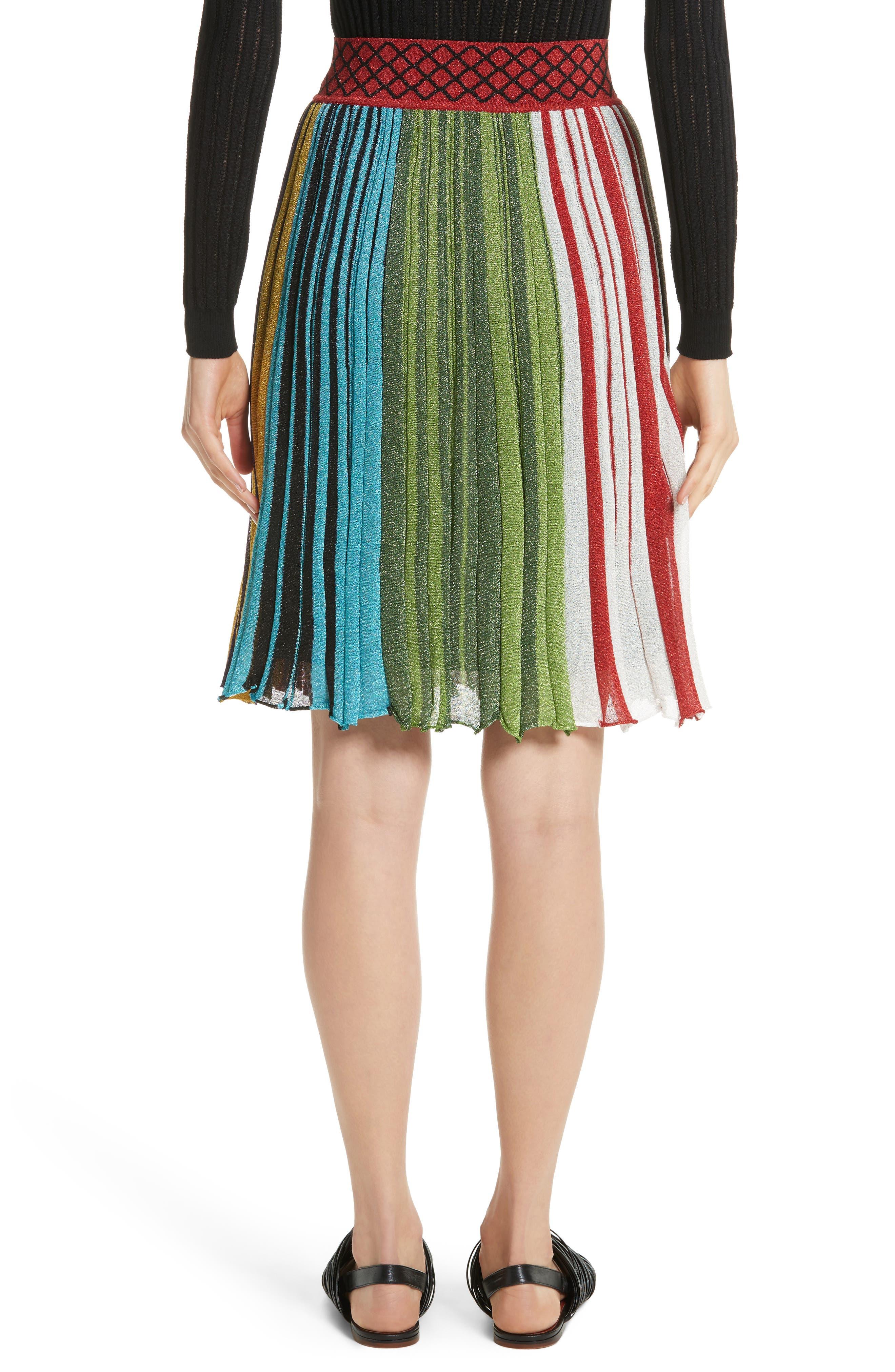 Metallic Stripe Skirt,                             Alternate thumbnail 2, color,                             640