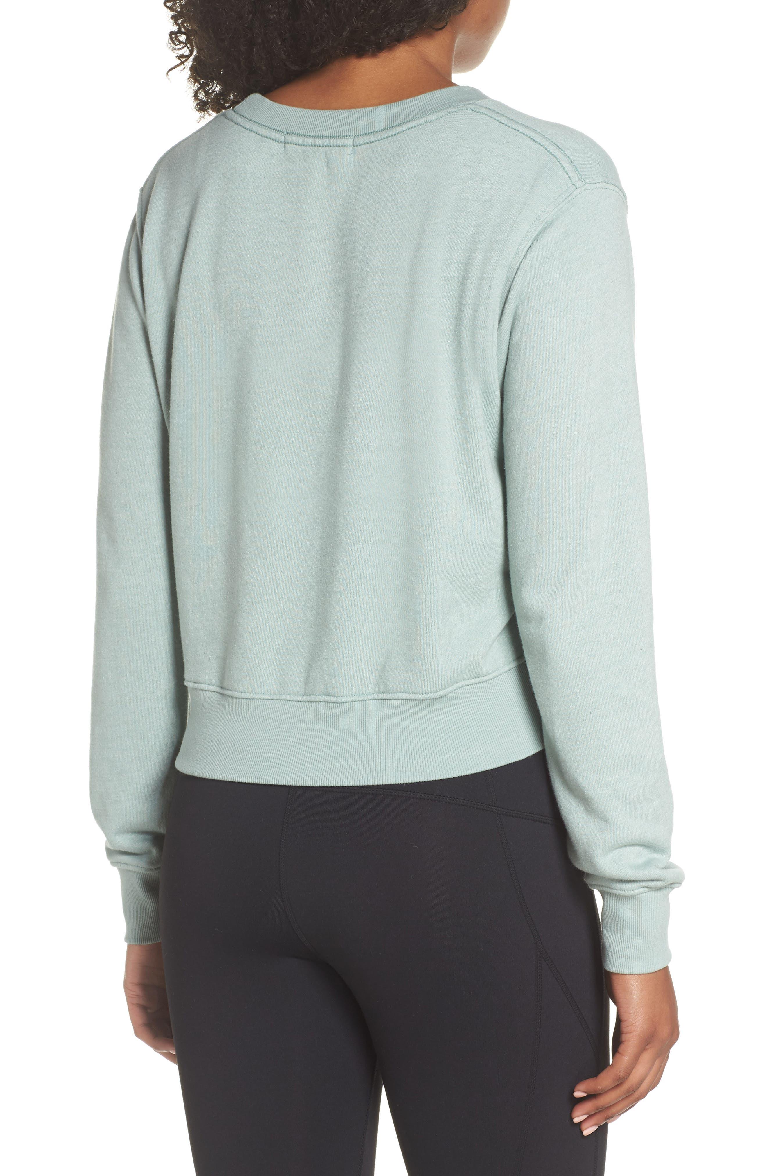Varsity Crop Sweatshirt,                             Alternate thumbnail 2, color,                             302