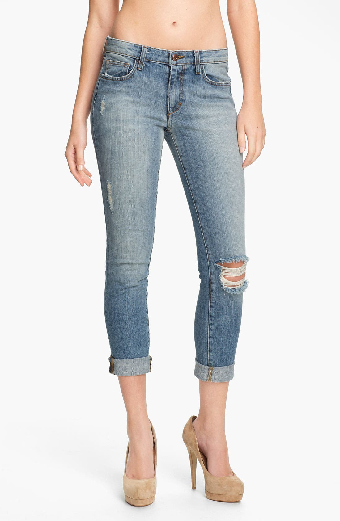 Rolled Skinny Ankle Jeans,                             Main thumbnail 1, color,                             440