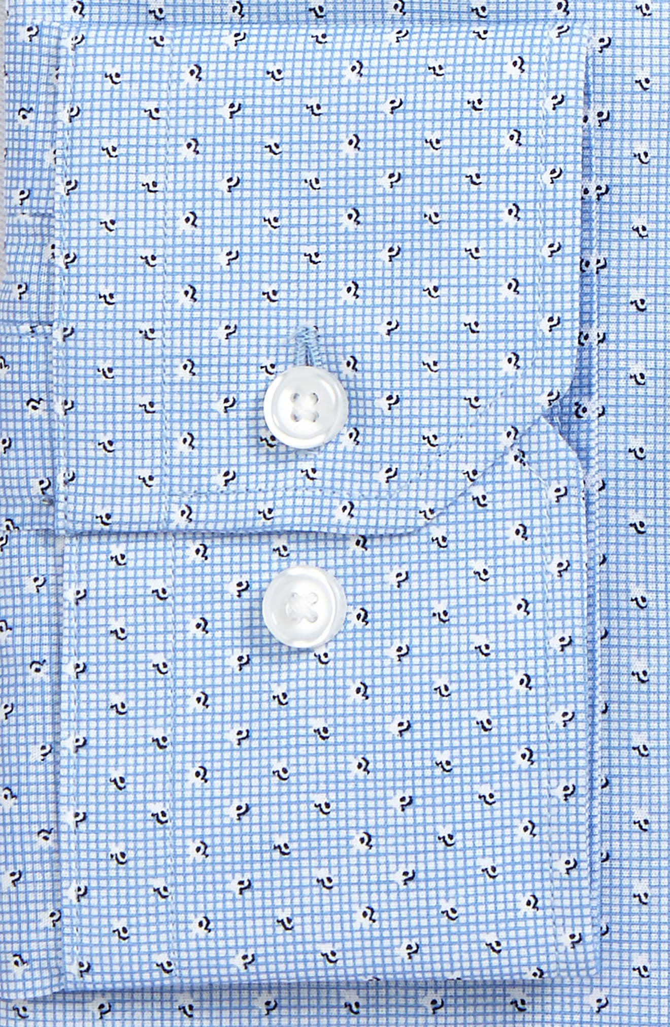 Trim Fit Print Dress Shirt,                             Alternate thumbnail 6, color,                             401
